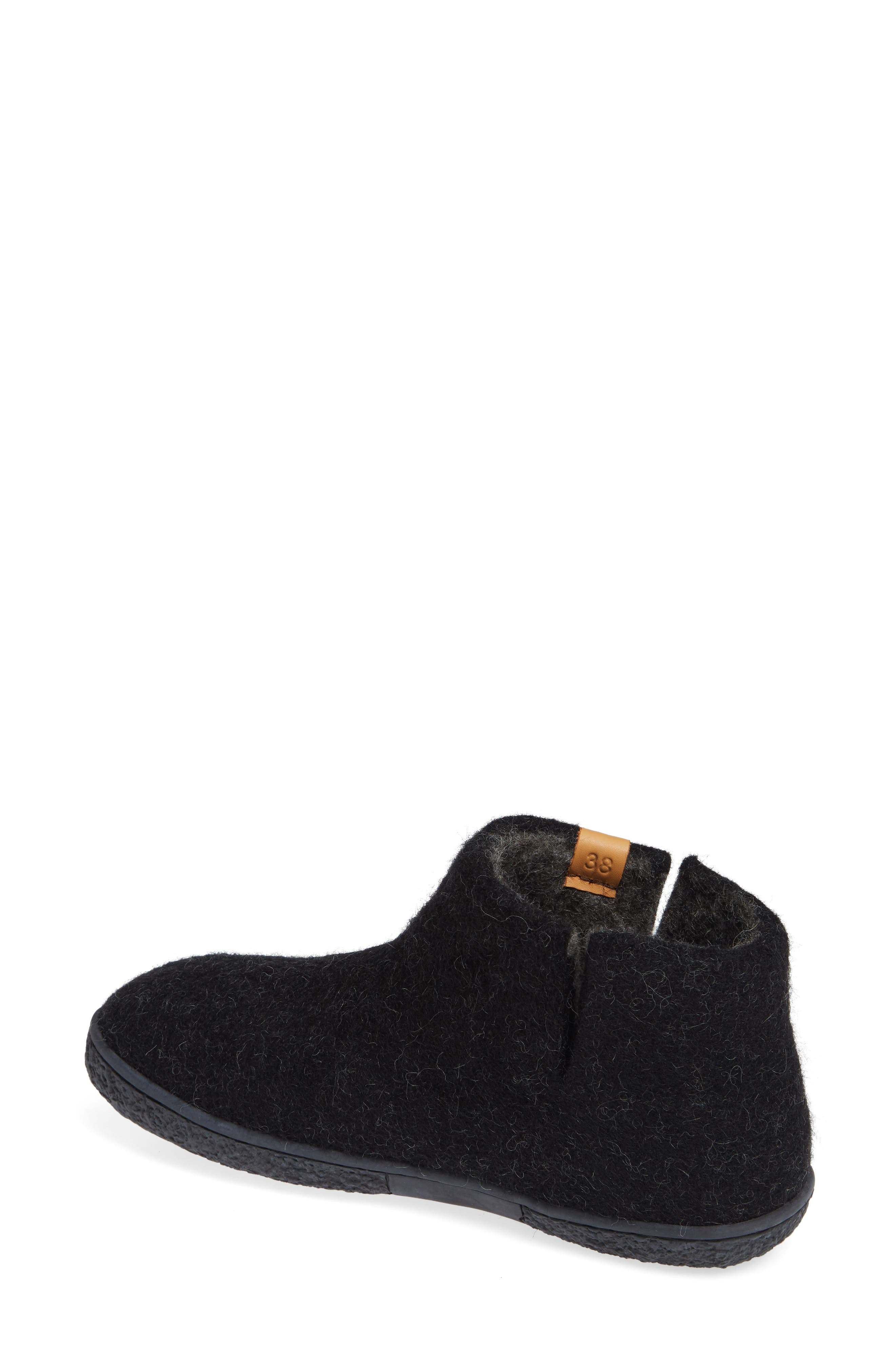 GREEN COMFORT,                             Nepal Slipper Bootie,                             Alternate thumbnail 2, color,                             BLACK WOOL
