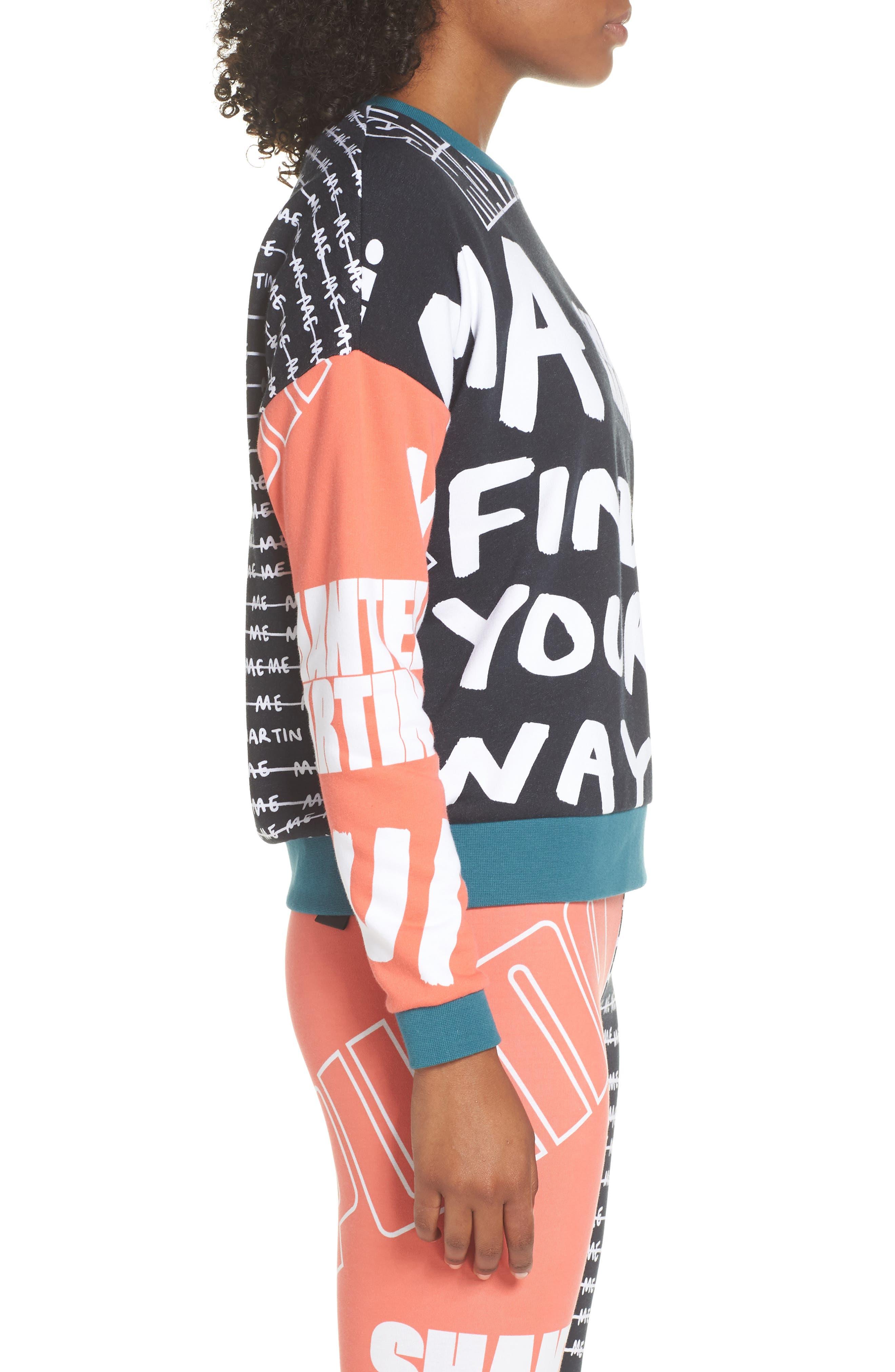 X Shantell Martin Sweatshirt,                             Alternate thumbnail 3, color,                             PUMA BLACK