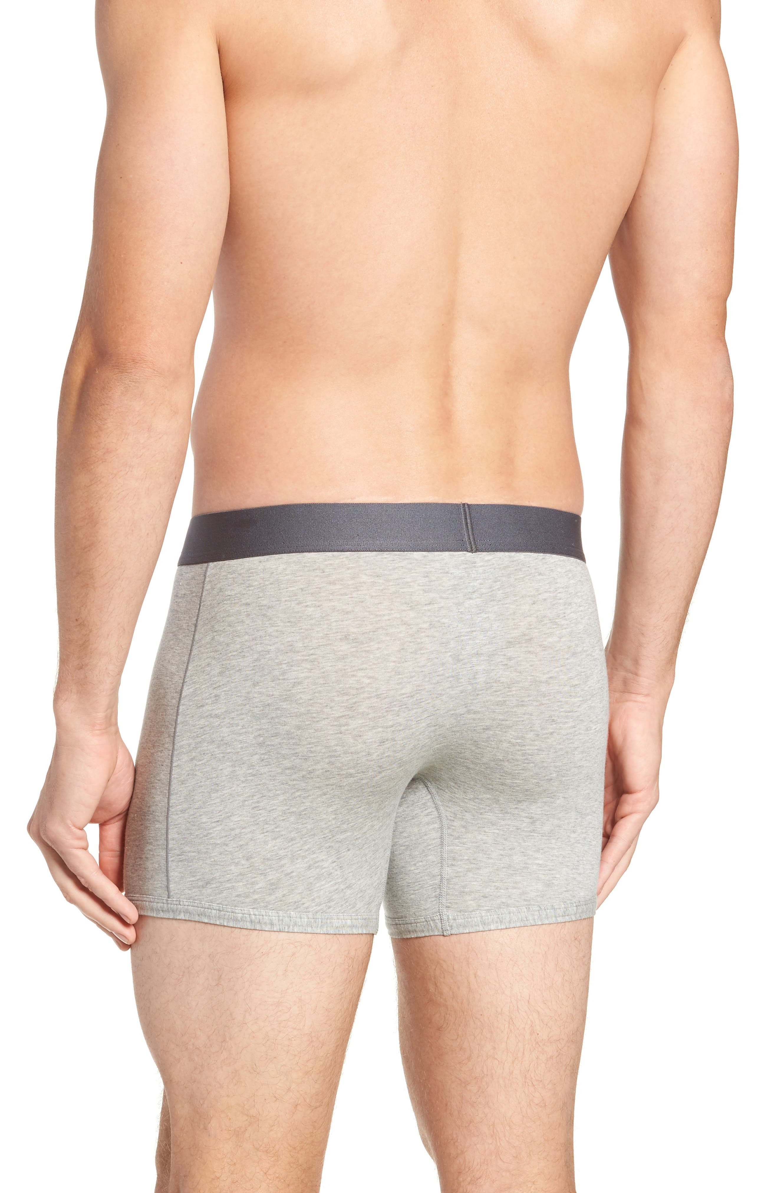 Cool Cotton Trunks,                             Alternate thumbnail 2, color,                             GREY HEATHER