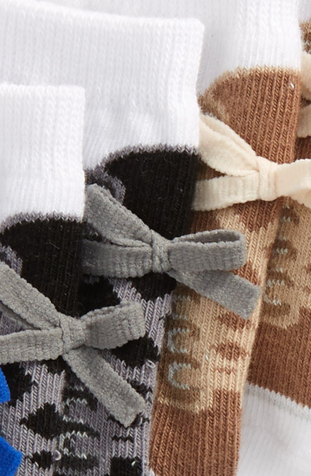 Brayden 6-Pack Socks,                             Alternate thumbnail 3, color,