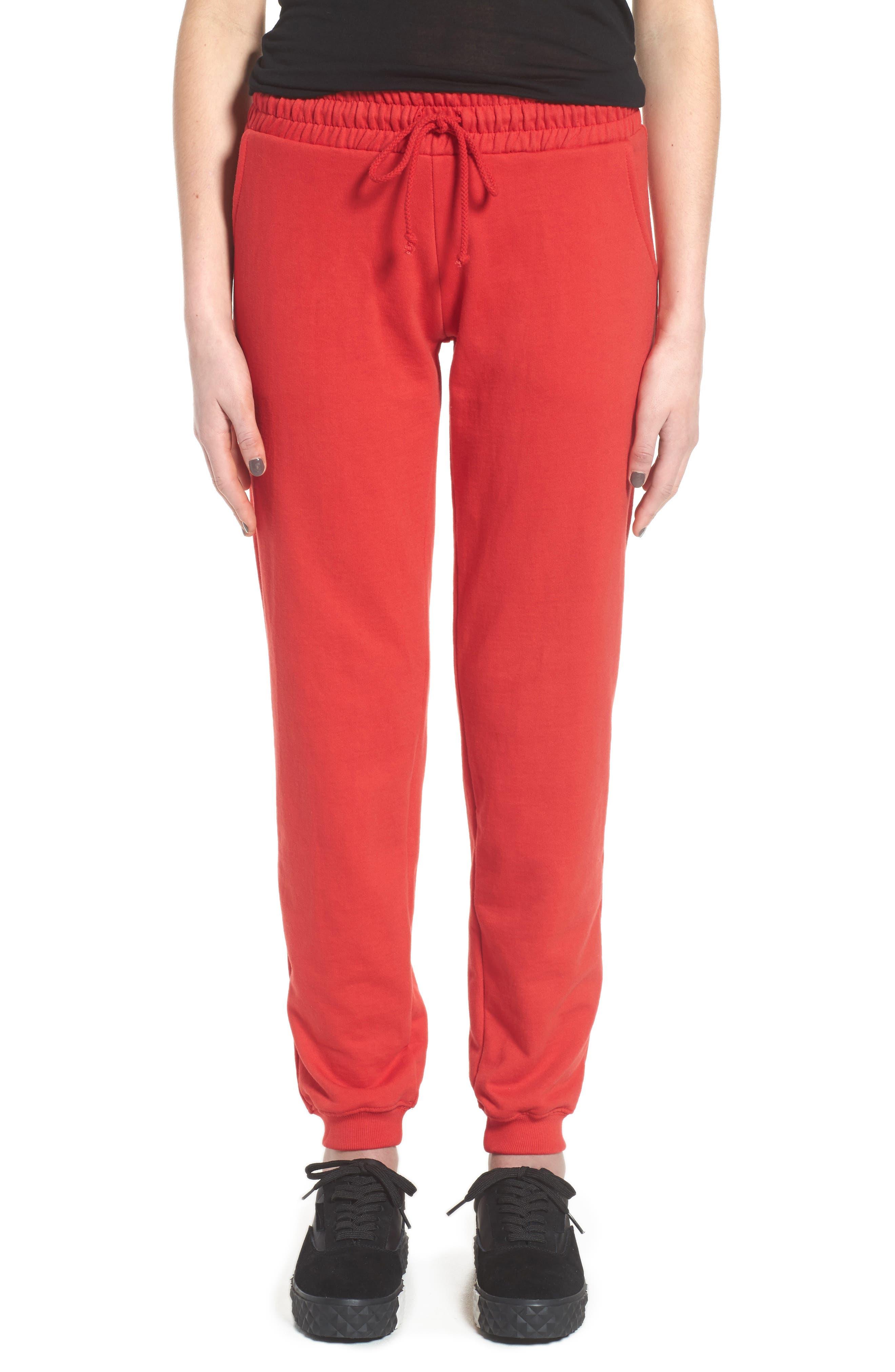 ME. Rose Sweatpants,                             Alternate thumbnail 2, color,                             CHERRY RED