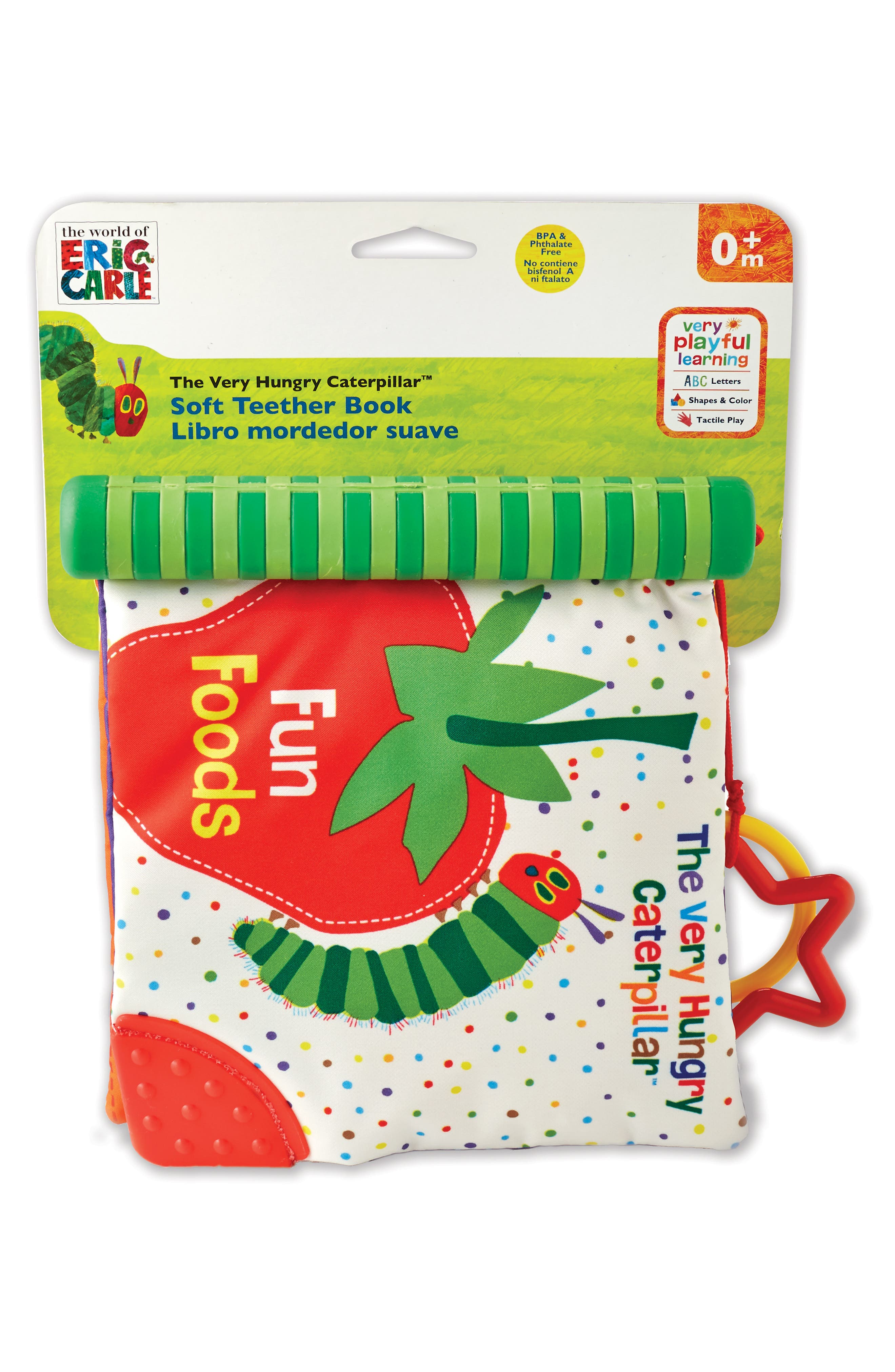 The World of Eric Carle<sup>™</sup> The Very Hungry Caterpillar<sup>™</sup> Soft Teether Book,                             Main thumbnail 1, color,                             440