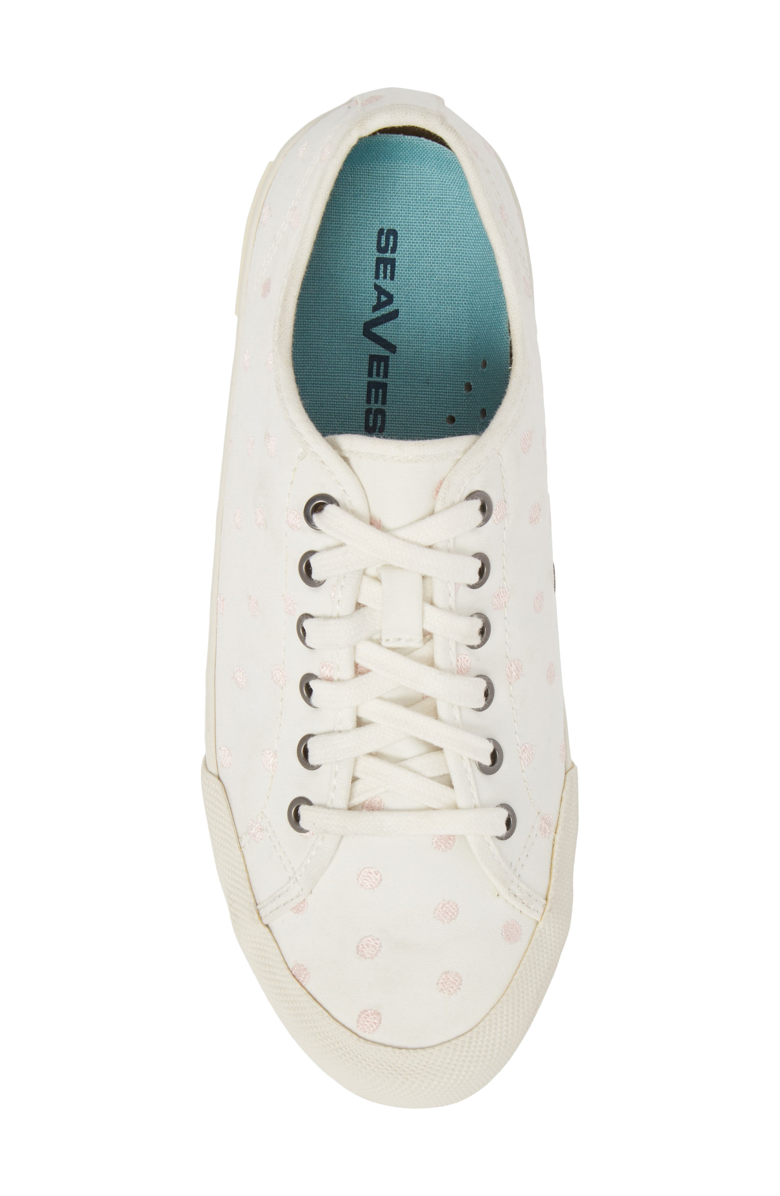 Monterey Embroidered Low Top Sneaker,                             Alternate thumbnail 5, color,                             PEARL