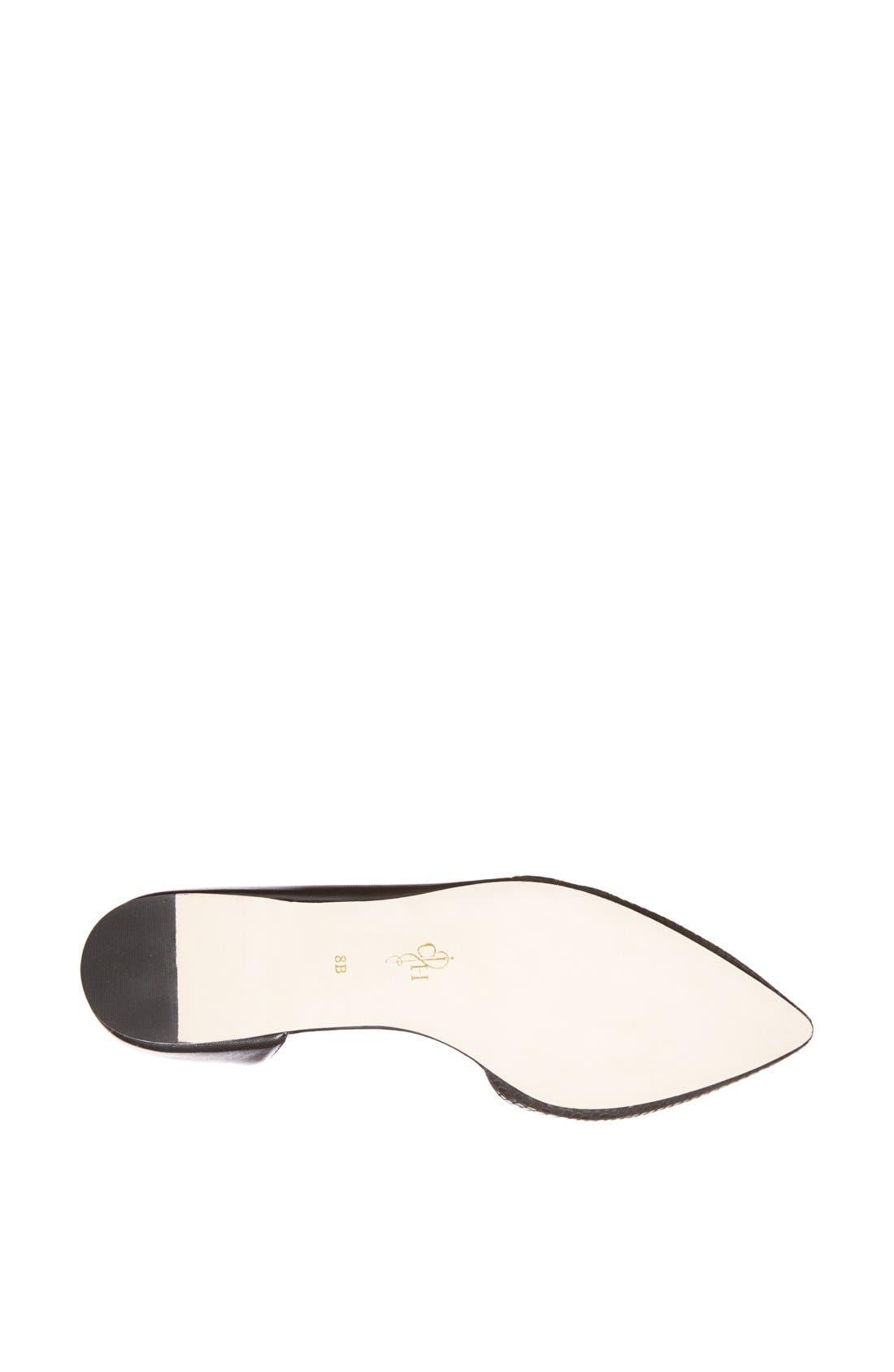 COLE HAAN,                             'Amalia' Half d'Orsay Skimmer Flat,                             Alternate thumbnail 4, color,                             001