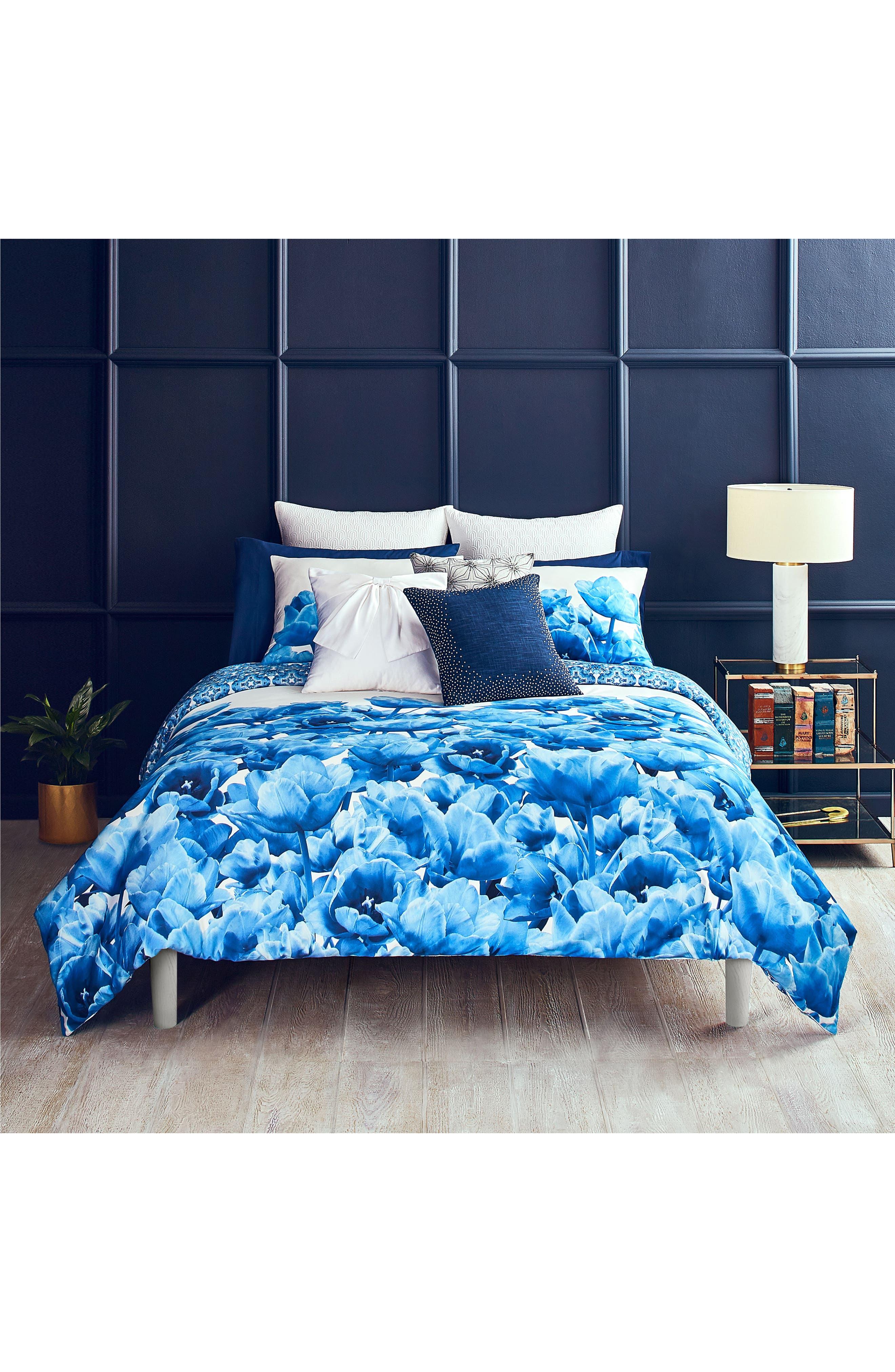Blue Beauty Comforter & Sham Set,                             Main thumbnail 1, color,                             400