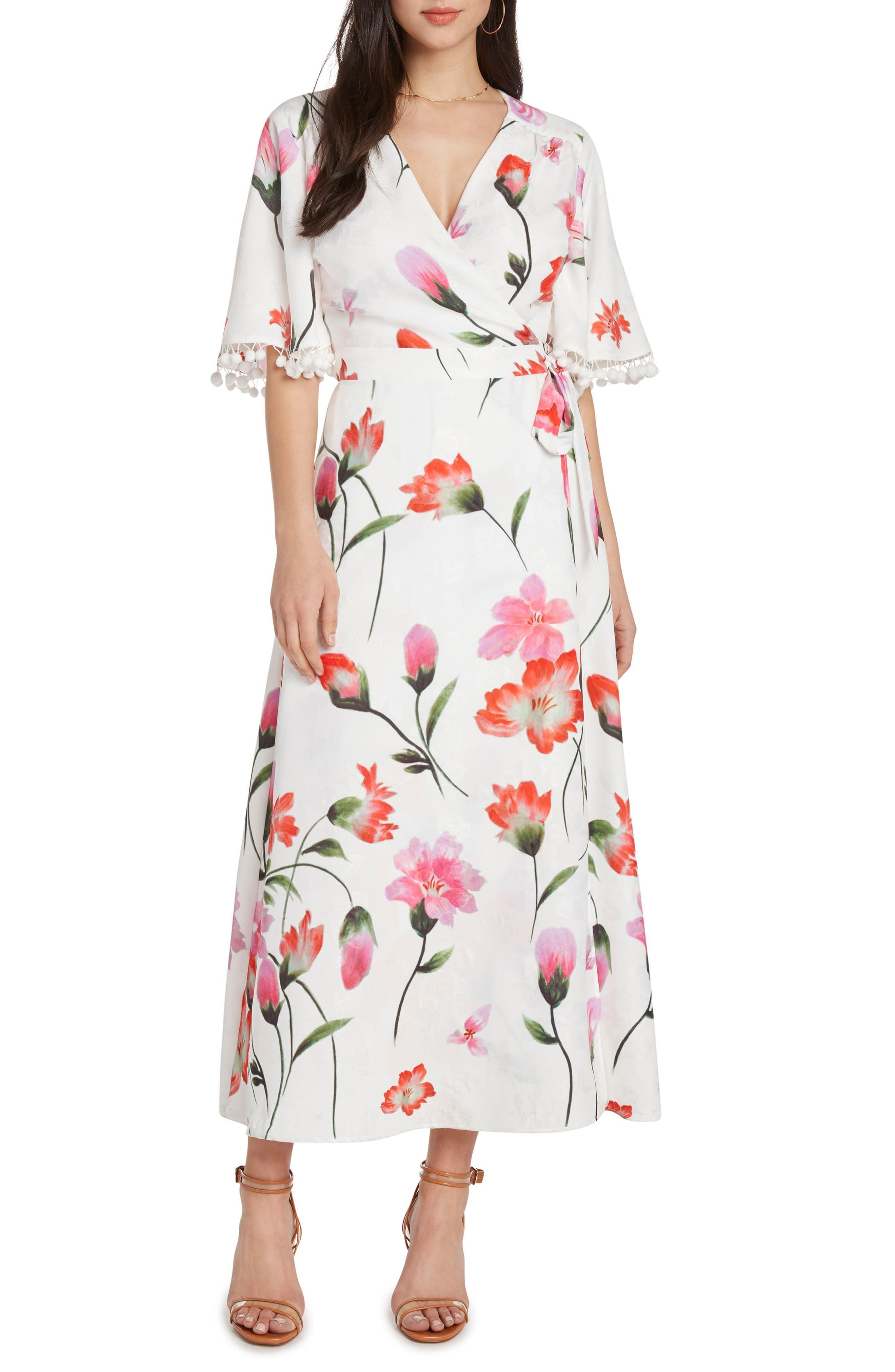 Print Wrap Maxi Dress,                             Main thumbnail 1, color,                             106