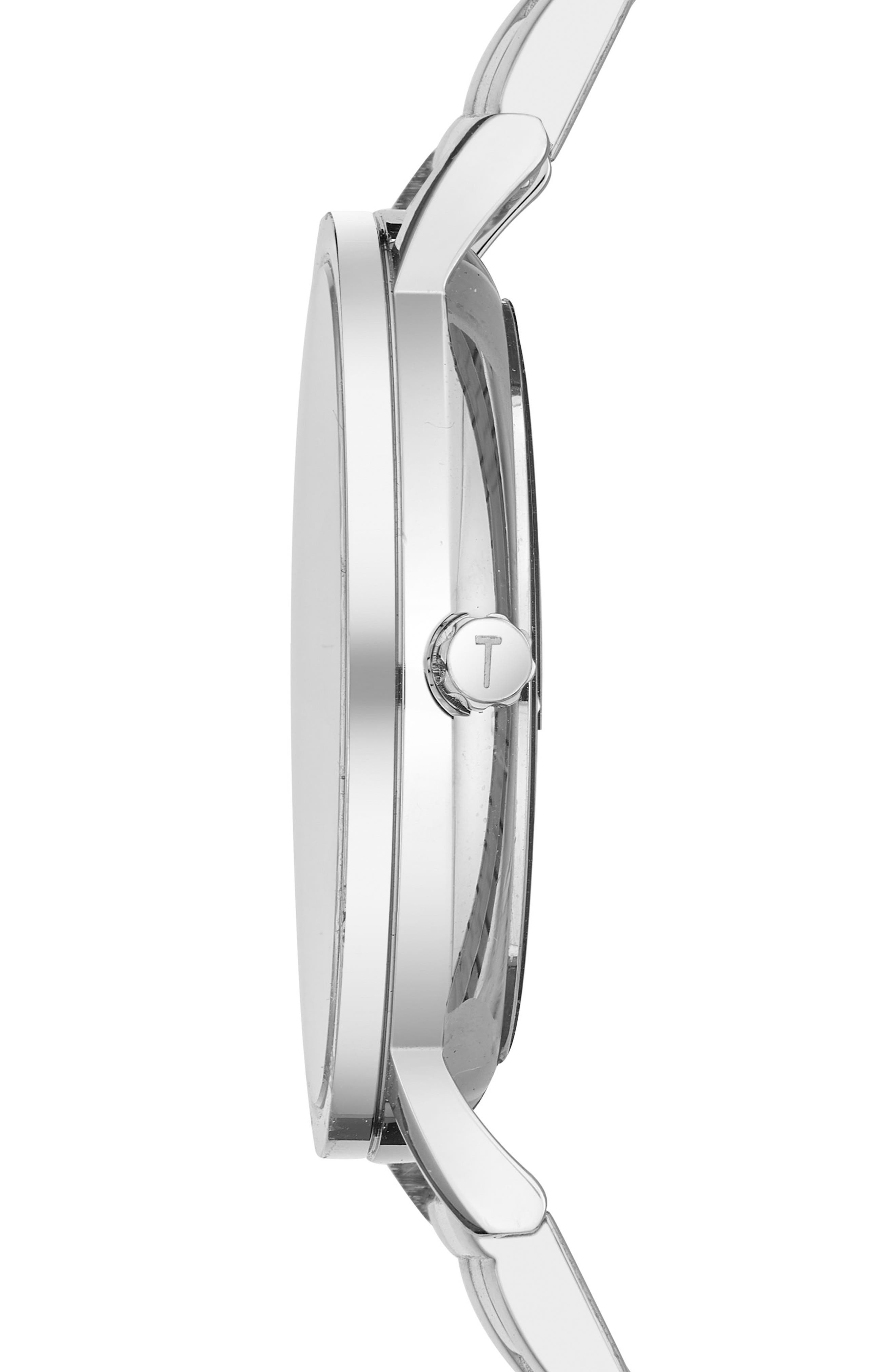 Brit Multifunction Bracelet Watch, 40mm,                             Alternate thumbnail 3, color,                             DARK BLUE/ STAINLESS STEEL