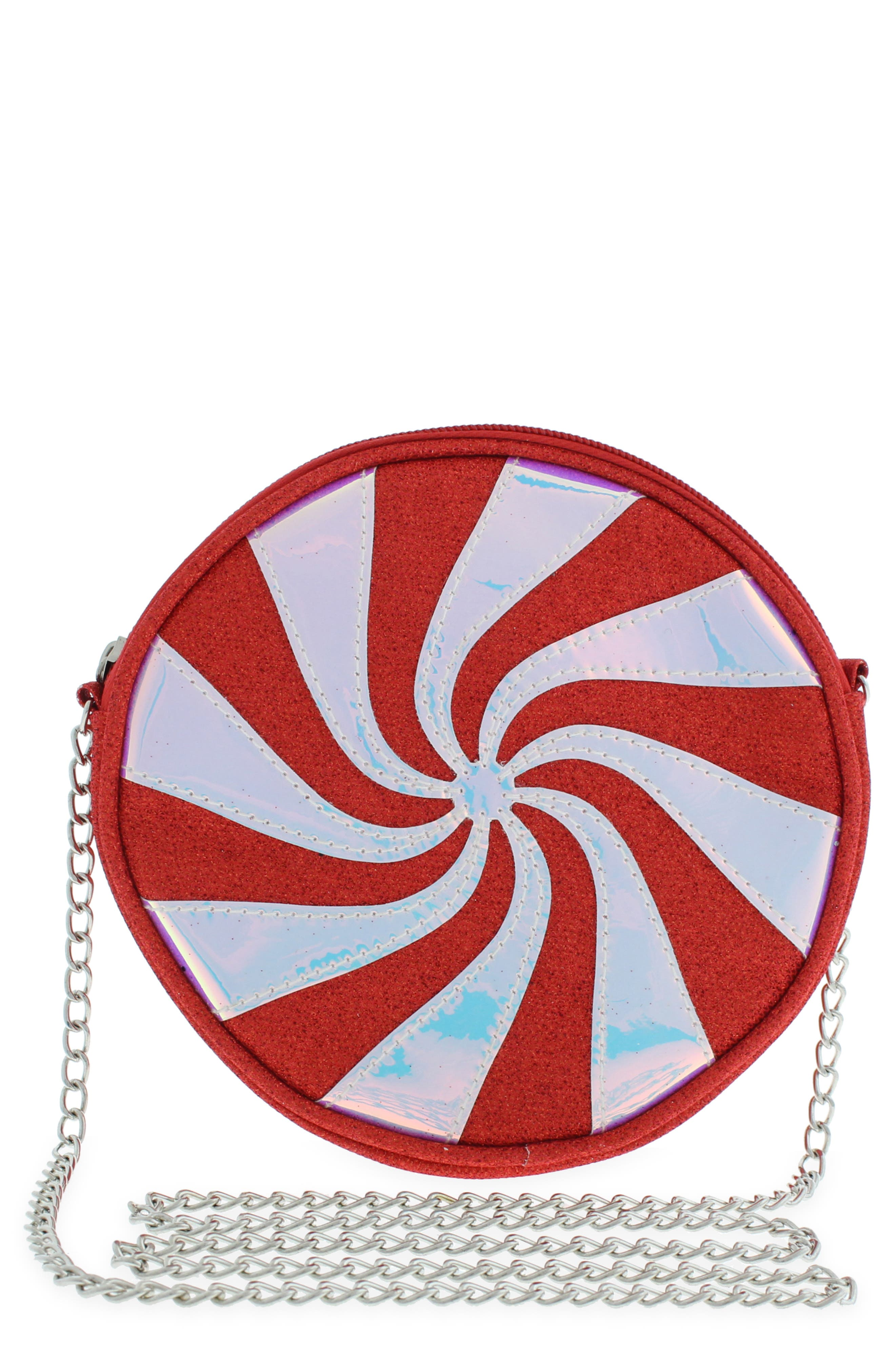 Girls Capelli New York Peppermint Crossbody Bag  Red