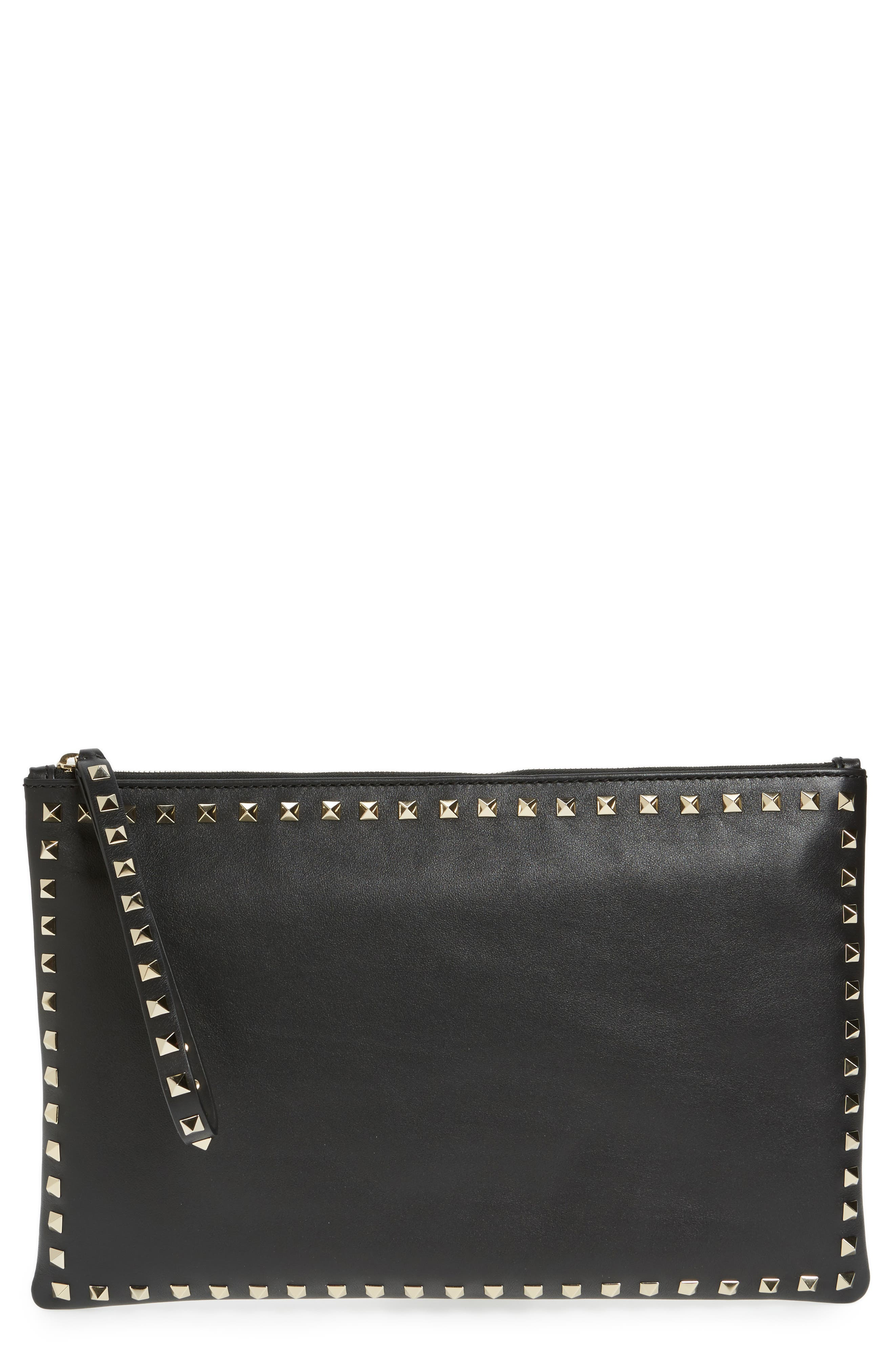 'Rockstud' Clutch in Black