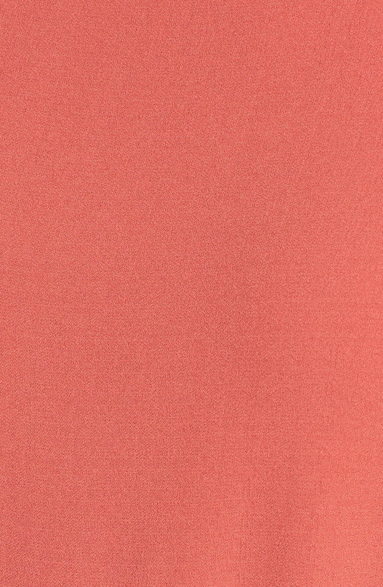 Bateau Neck Silk Dress,                             Alternate thumbnail 10, color,