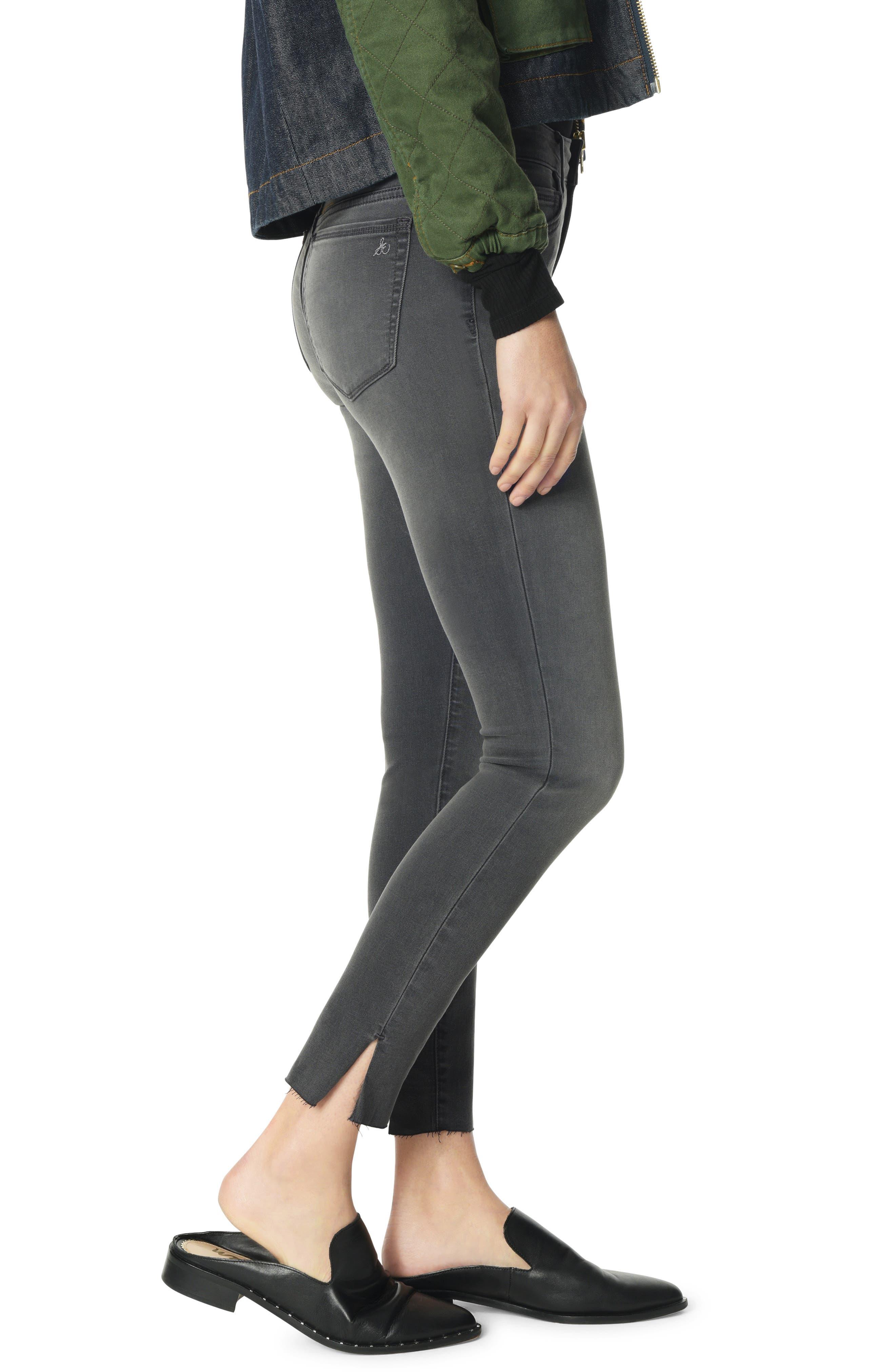 The Kitten Side Slit Ankle Skinny Jeans,                             Alternate thumbnail 3, color,                             MASON