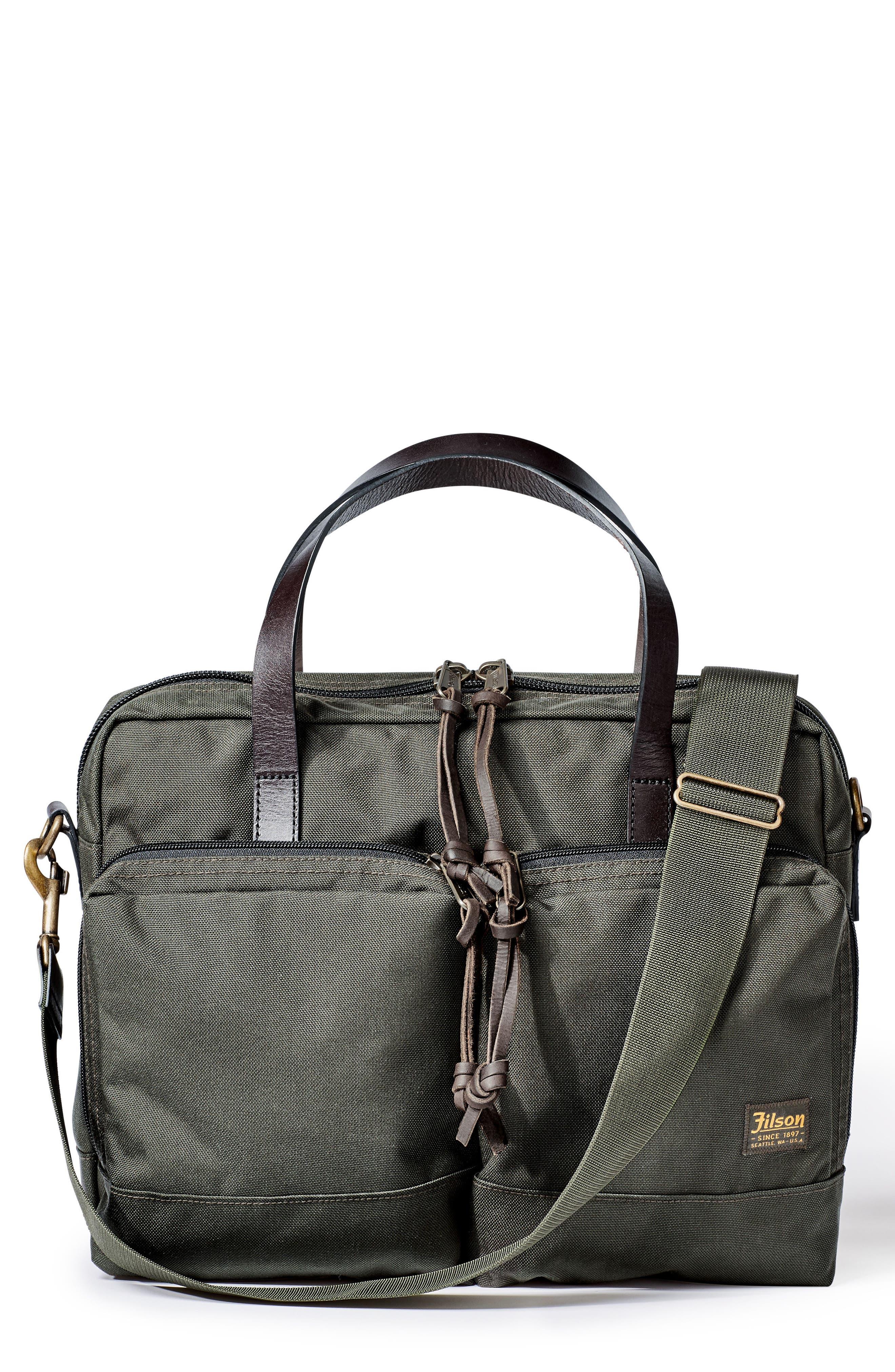 FILSON Dryden Briefcase - Green in Otter Green