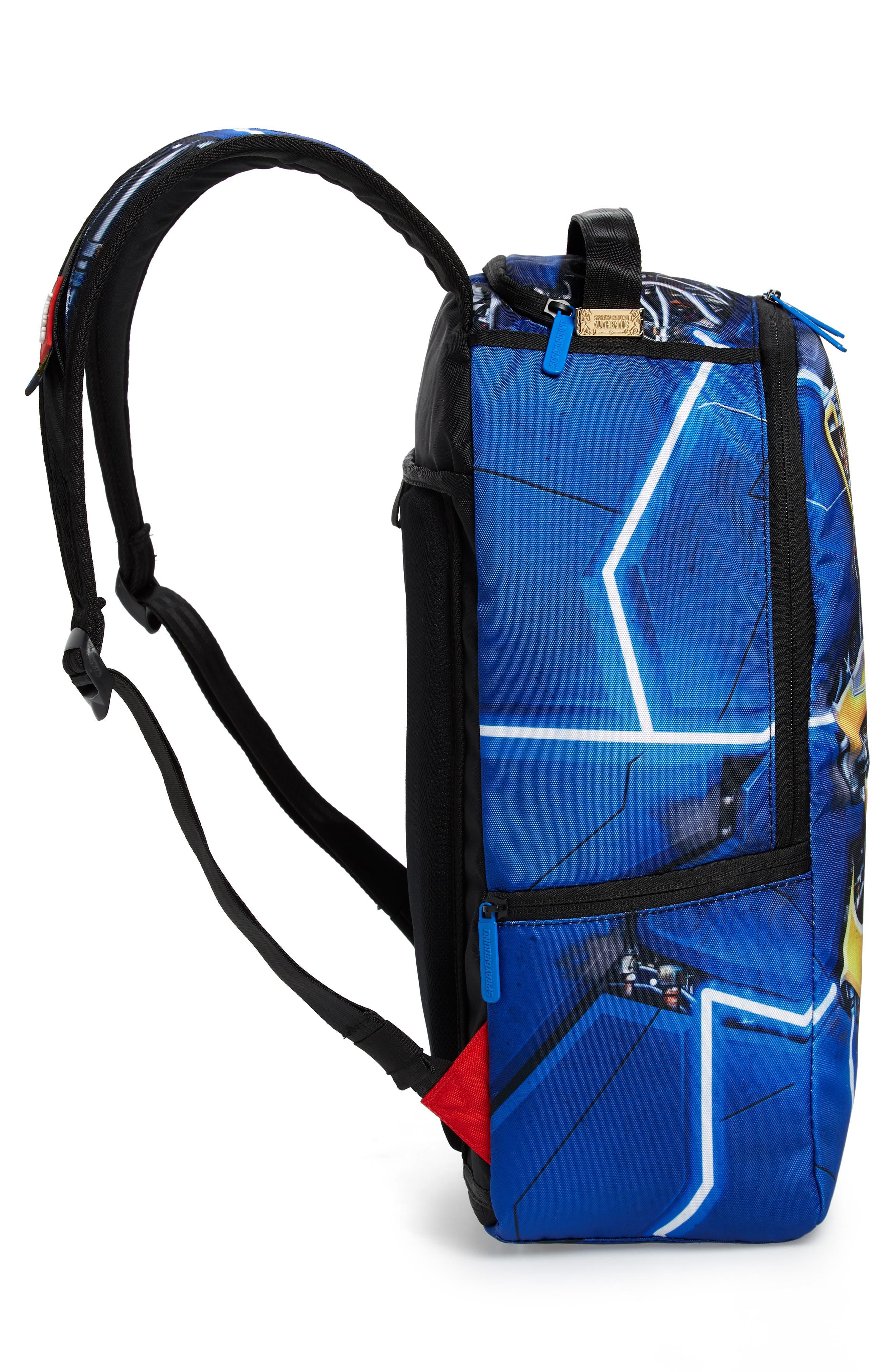 SPRAYGROUND,                             Curry Elysium Backpack,                             Alternate thumbnail 5, color,                             BLUE