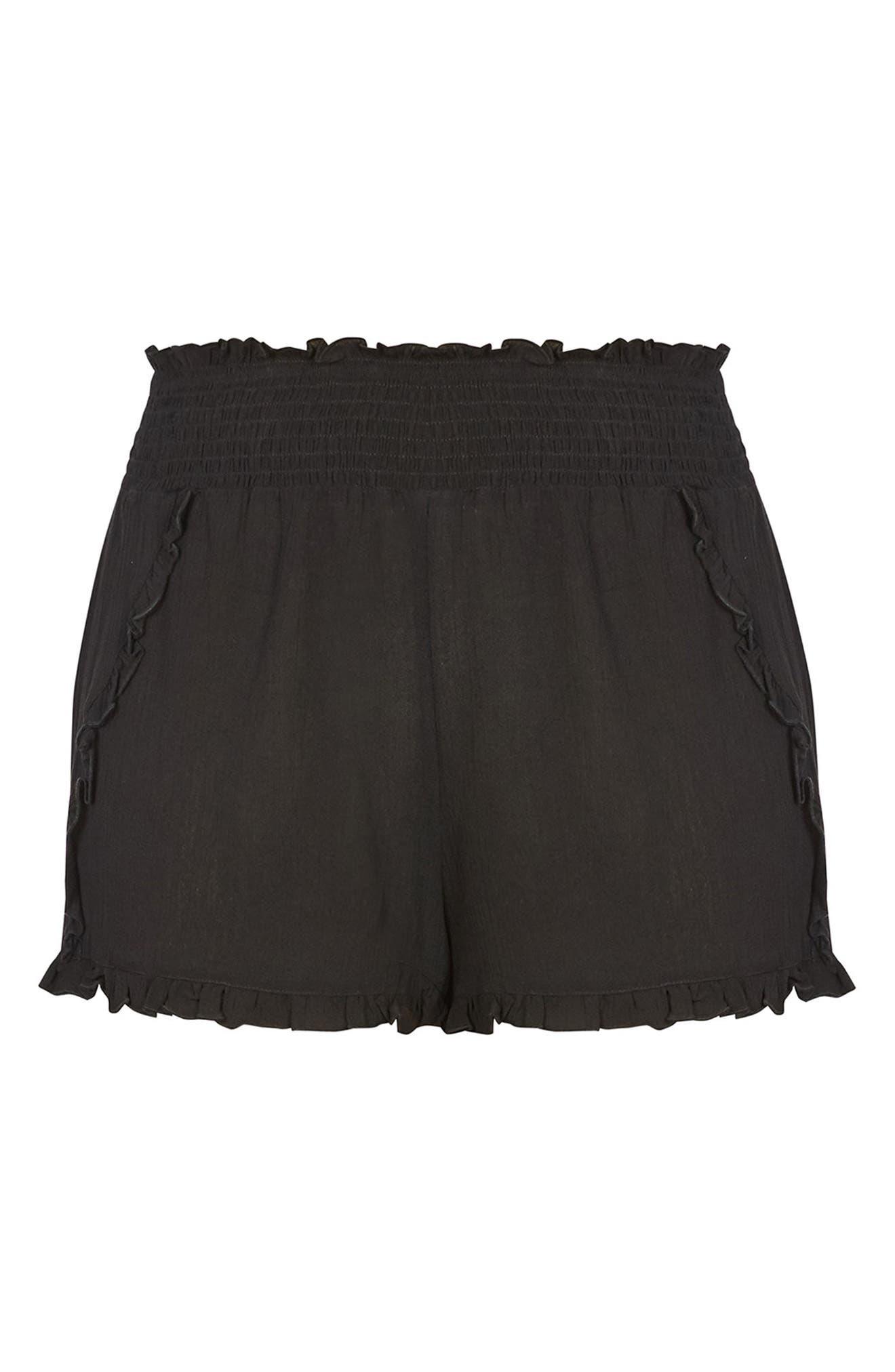 Island Holiday Shorts,                             Alternate thumbnail 4, color,                             BLACK