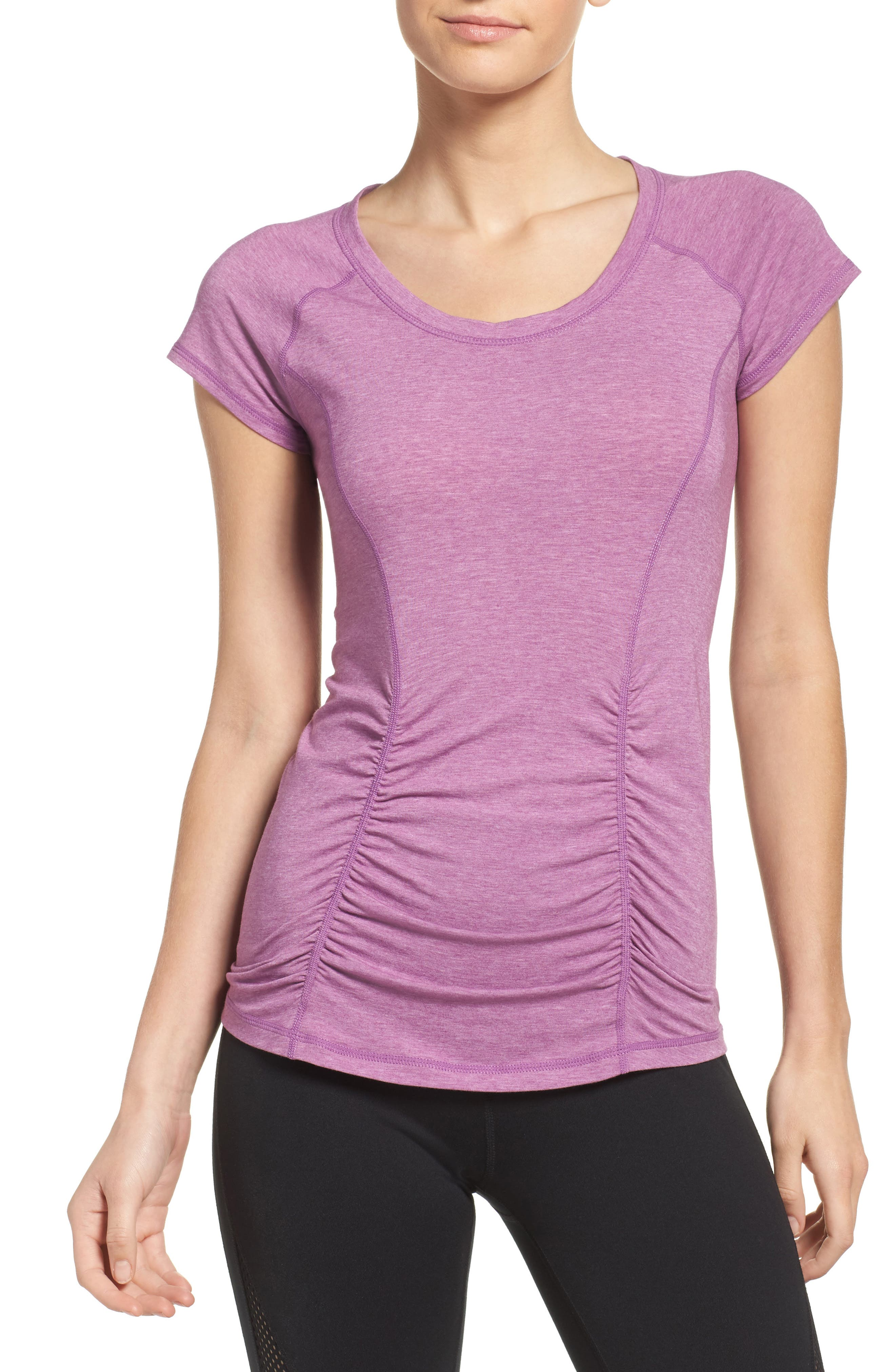 'Z 6' Ruched Tee,                             Main thumbnail 15, color,