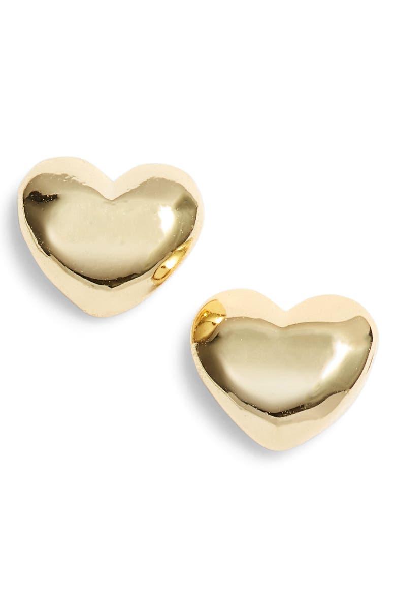 Gorjana HEART CHARM STUD EARRINGS