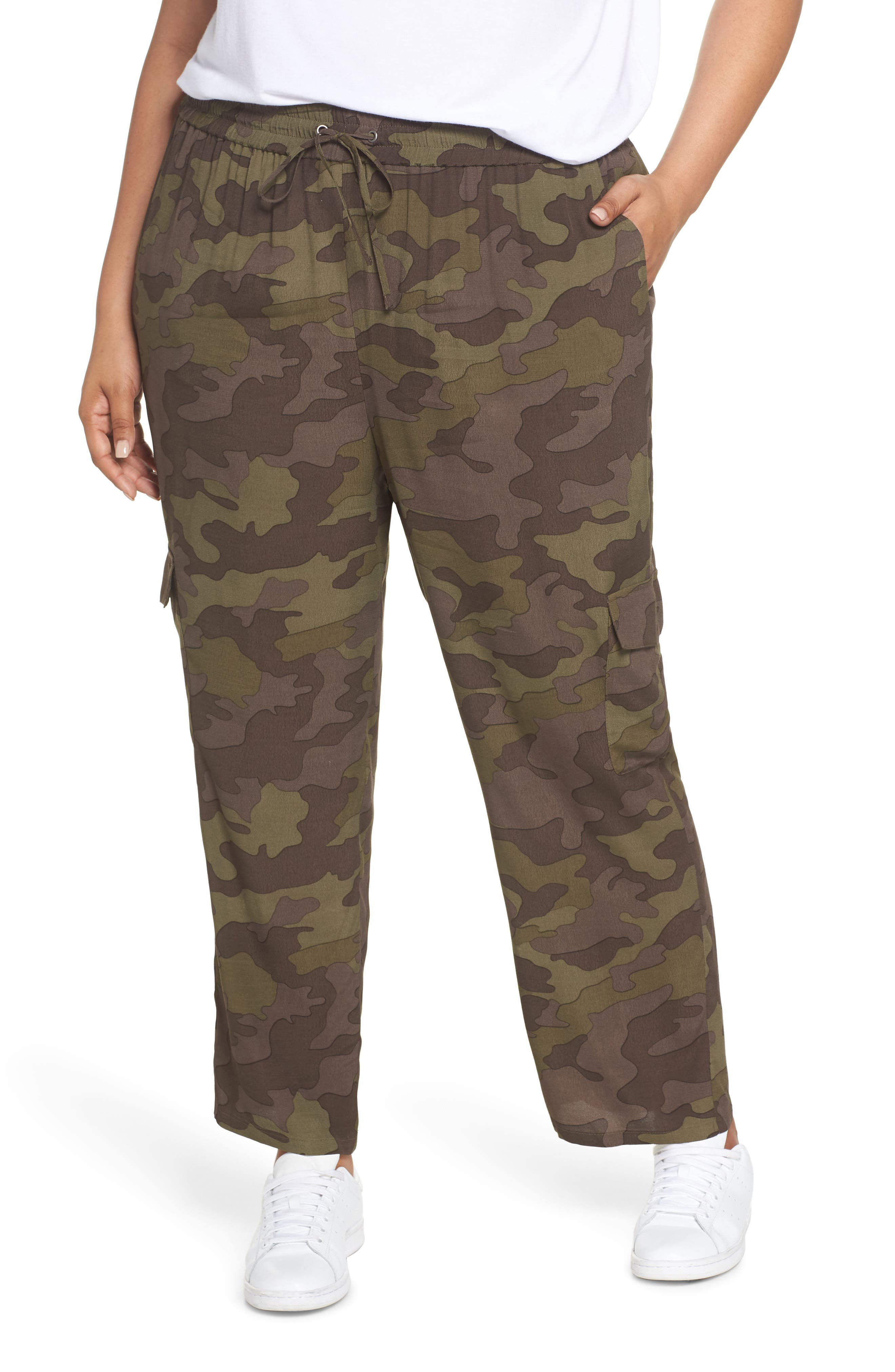 High Rise Camouflage Cargo Pants,                             Alternate thumbnail 2, color,                             210