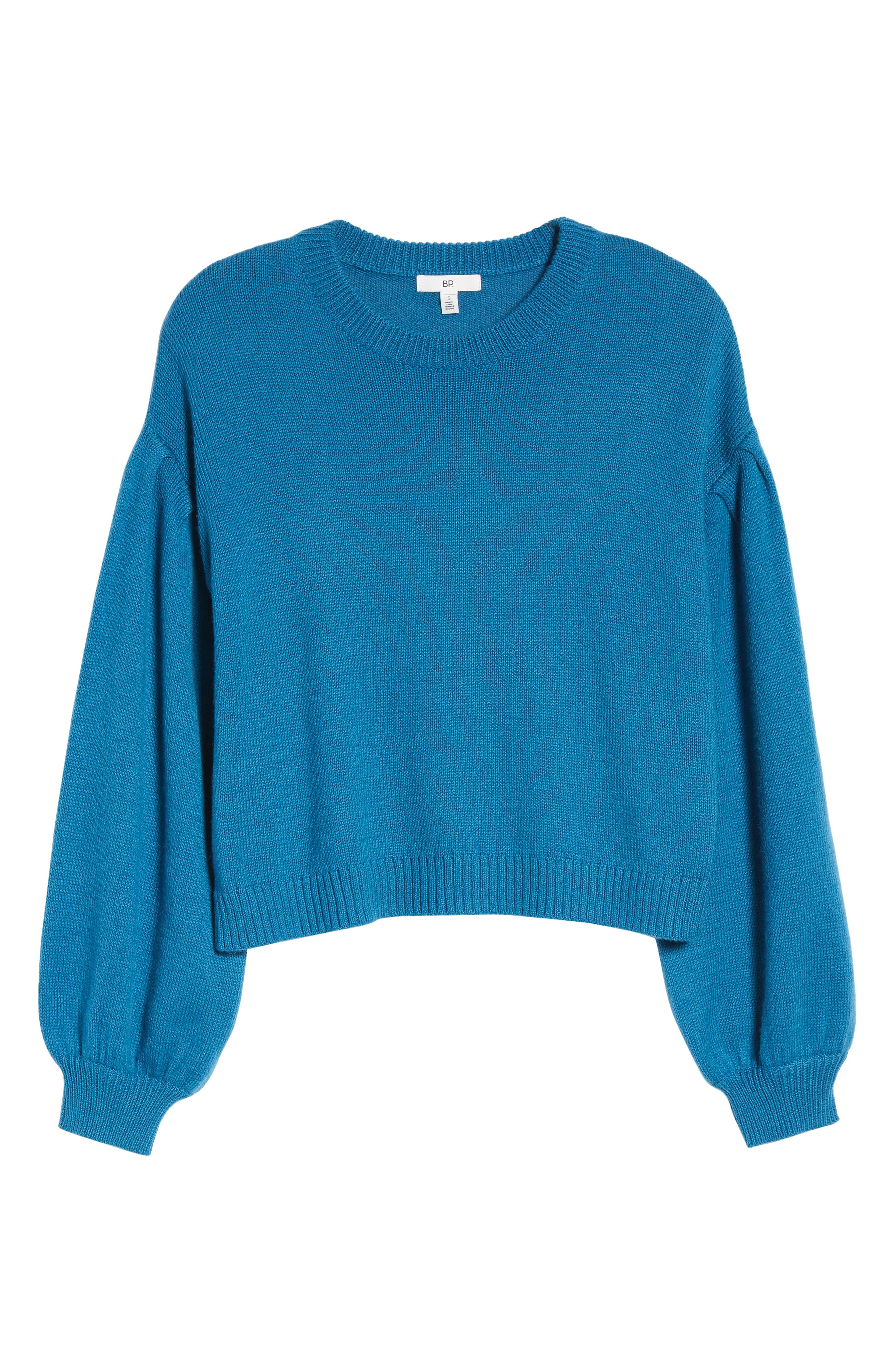 Blouson Sleeve Sweater,                             Alternate thumbnail 6, color,                             TEAL SAPPHIRE