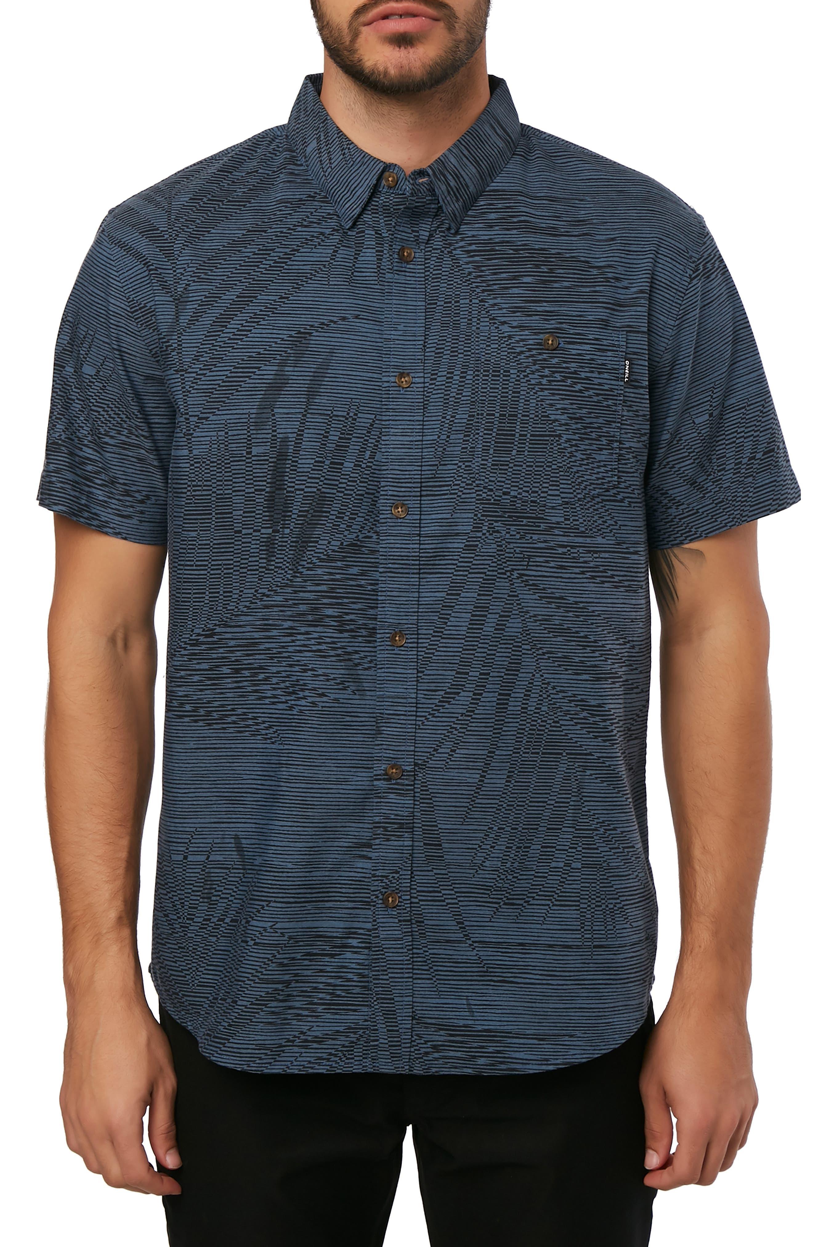 Fronzarelli Woven Shirt,                             Main thumbnail 1, color,                             DARK BLUE