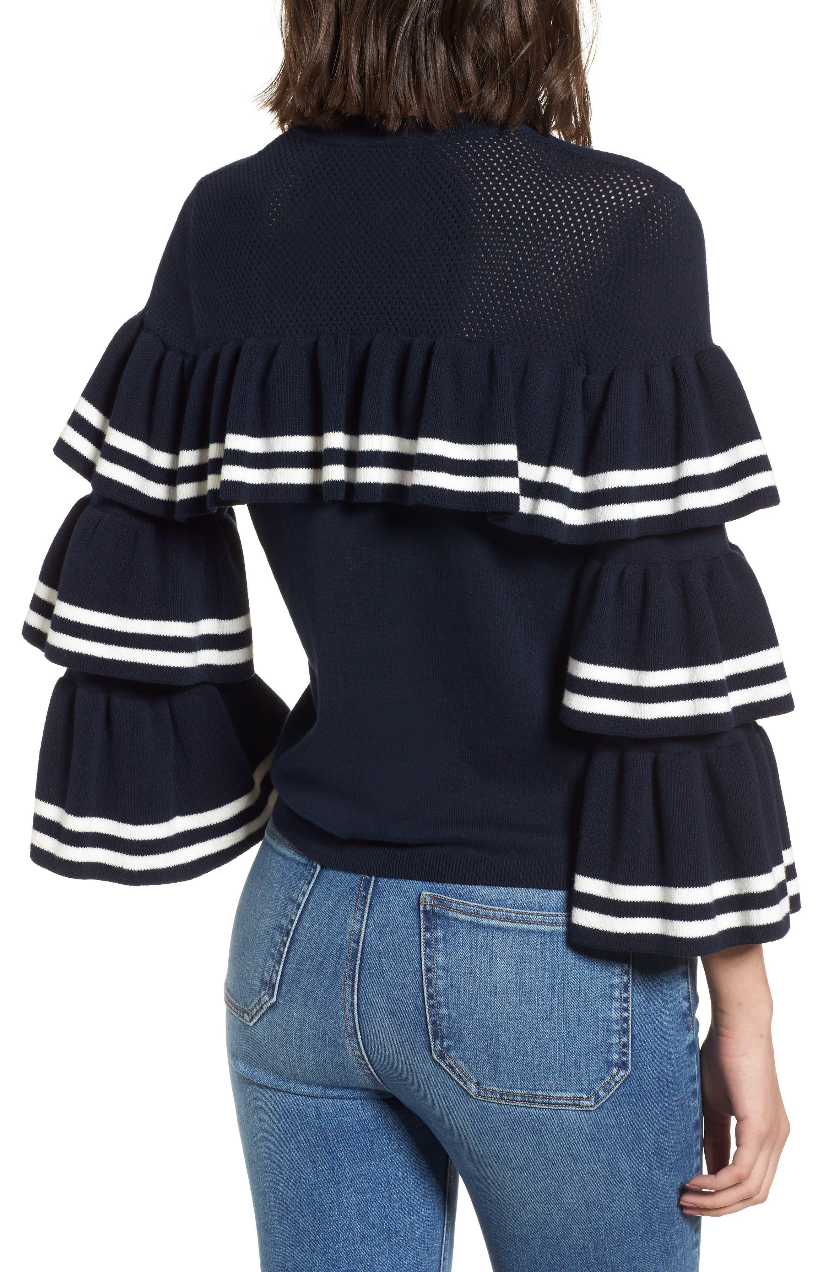 Rhonda Tiered Sleeve Sweater,                             Alternate thumbnail 2, color,
