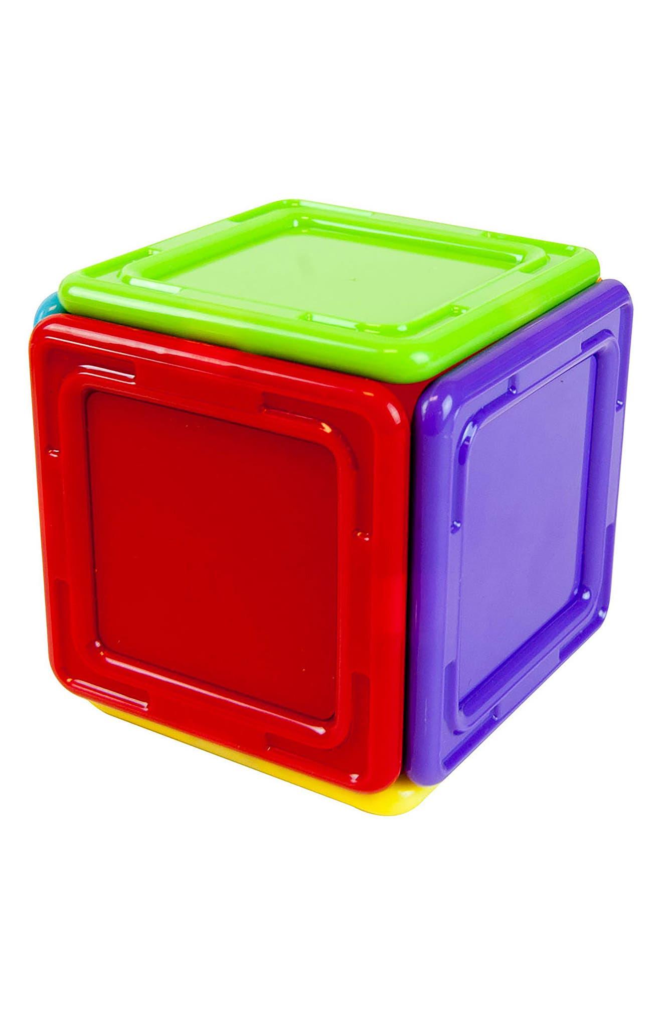 14-Piece Rainbow Opaque Solid Magnetic 3D Construction Set,                             Alternate thumbnail 2, color,                             400