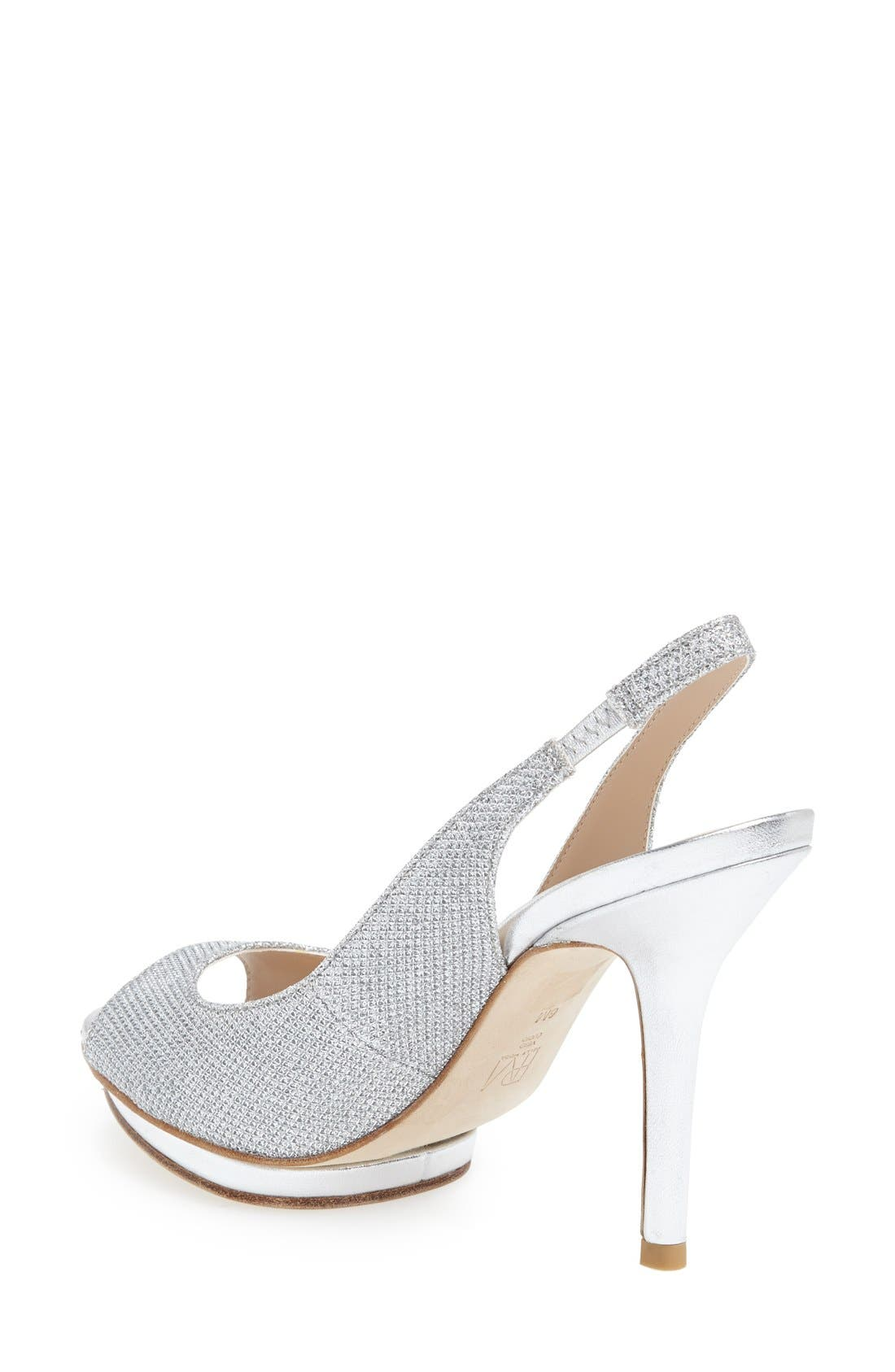 'Rivka' Open Toe Platform Slingback Sandal,                             Alternate thumbnail 7, color,