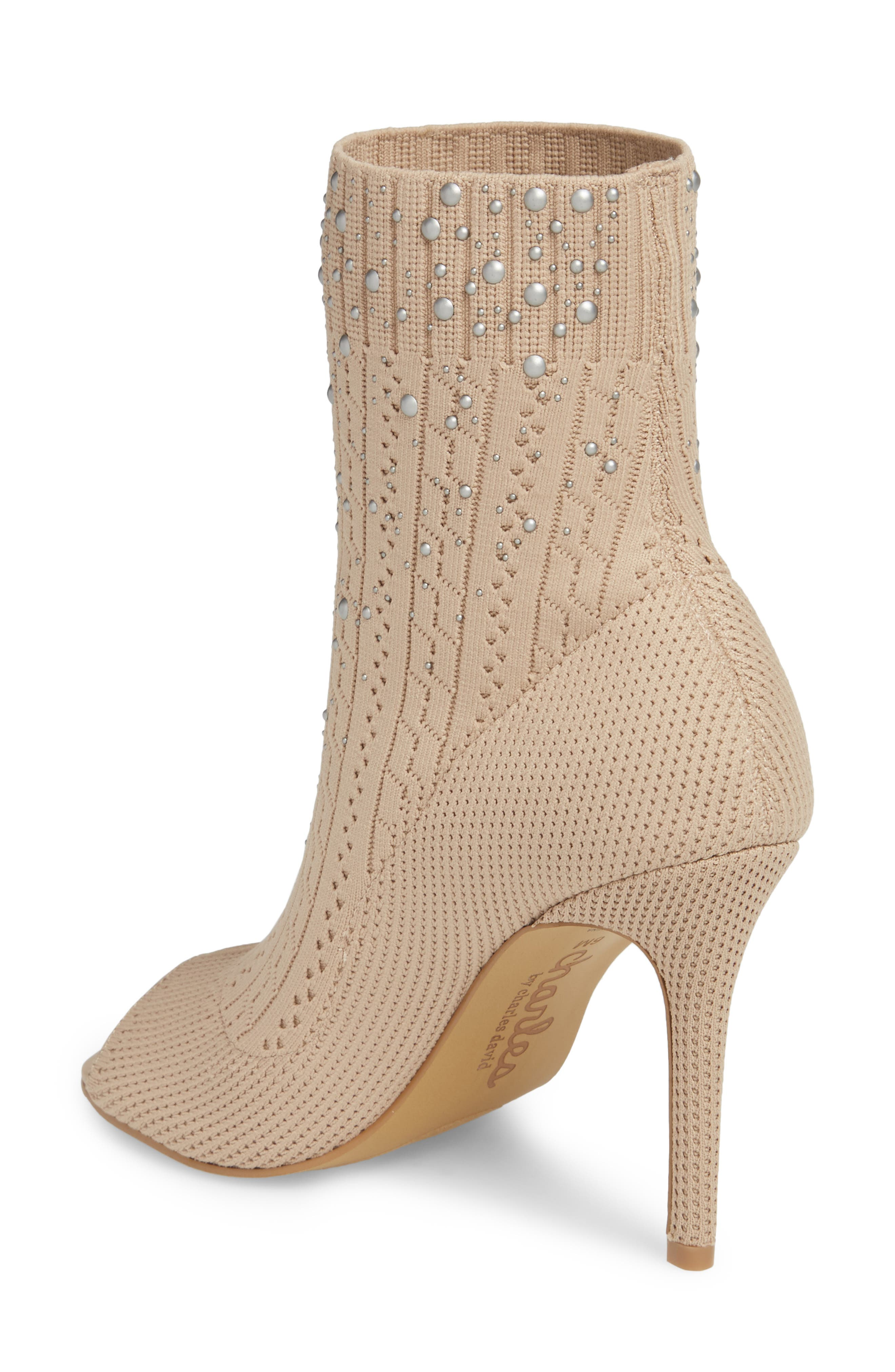 Peep Toe Sock Bootie,                             Alternate thumbnail 2, color,                             250