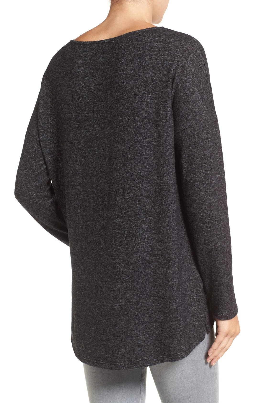 Cozy Ballet Neck High/Low Pullover,                             Alternate thumbnail 60, color,
