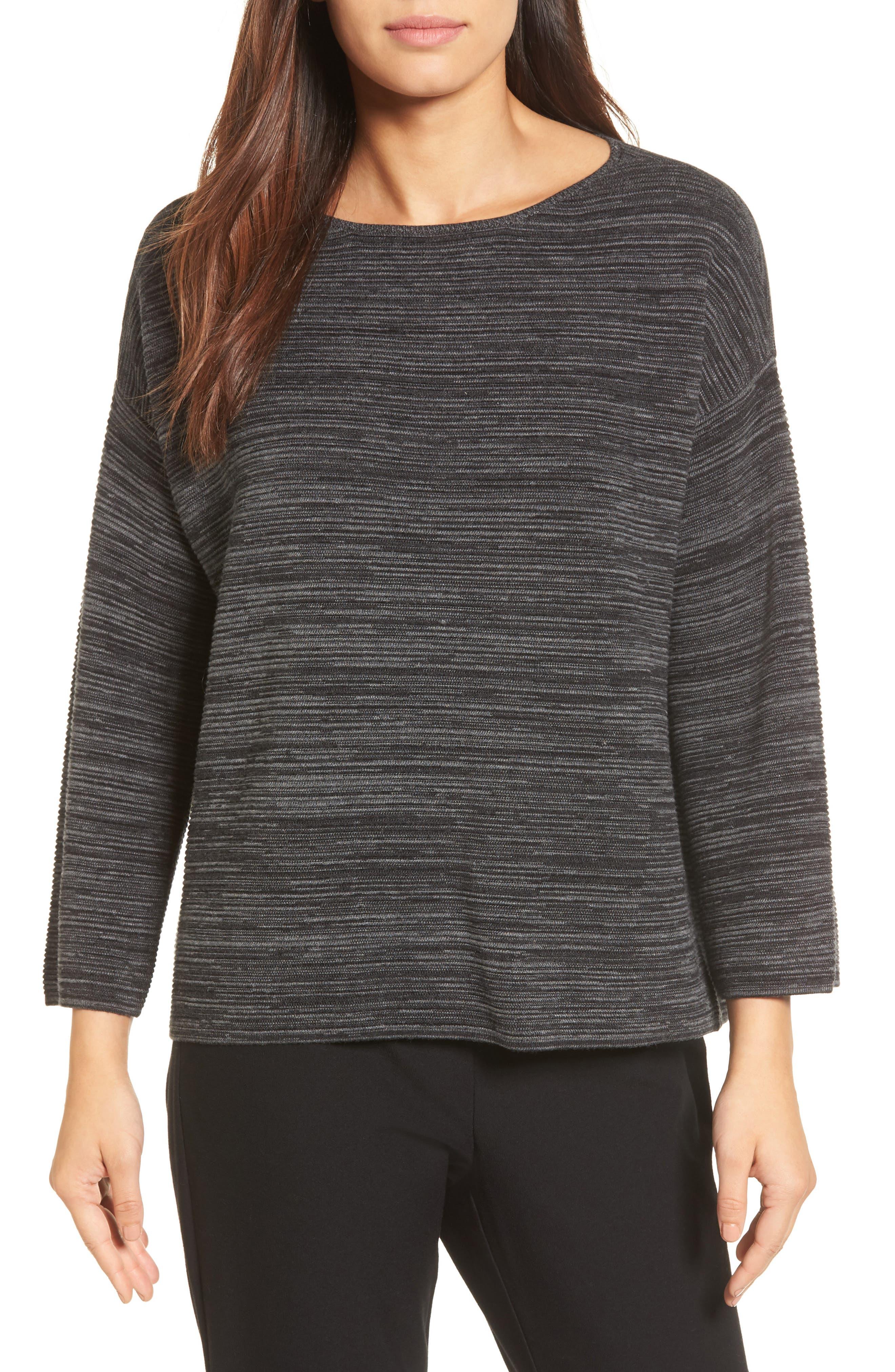 Tencel<sup>®</sup> & Organic Cotton Sweater,                         Main,                         color, 001