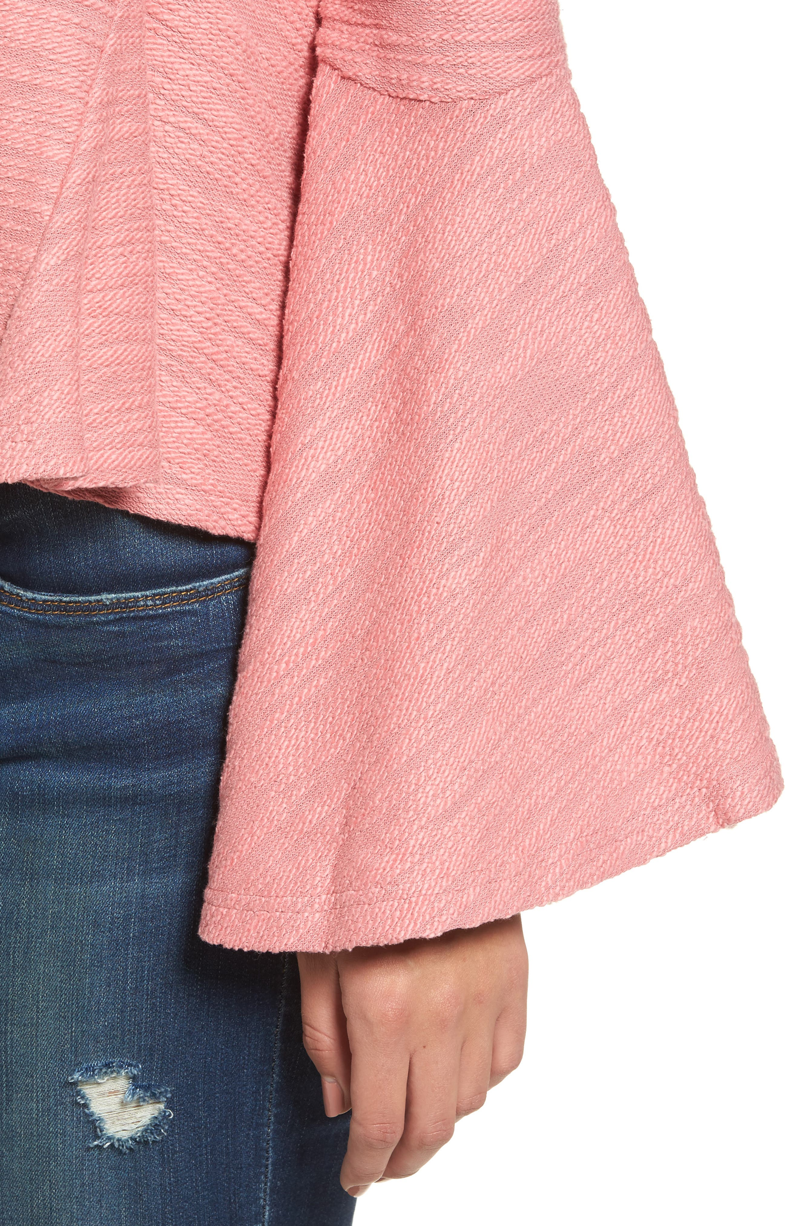 Off the Shoulder Bell Sleeve Top,                             Alternate thumbnail 4, color,                             650
