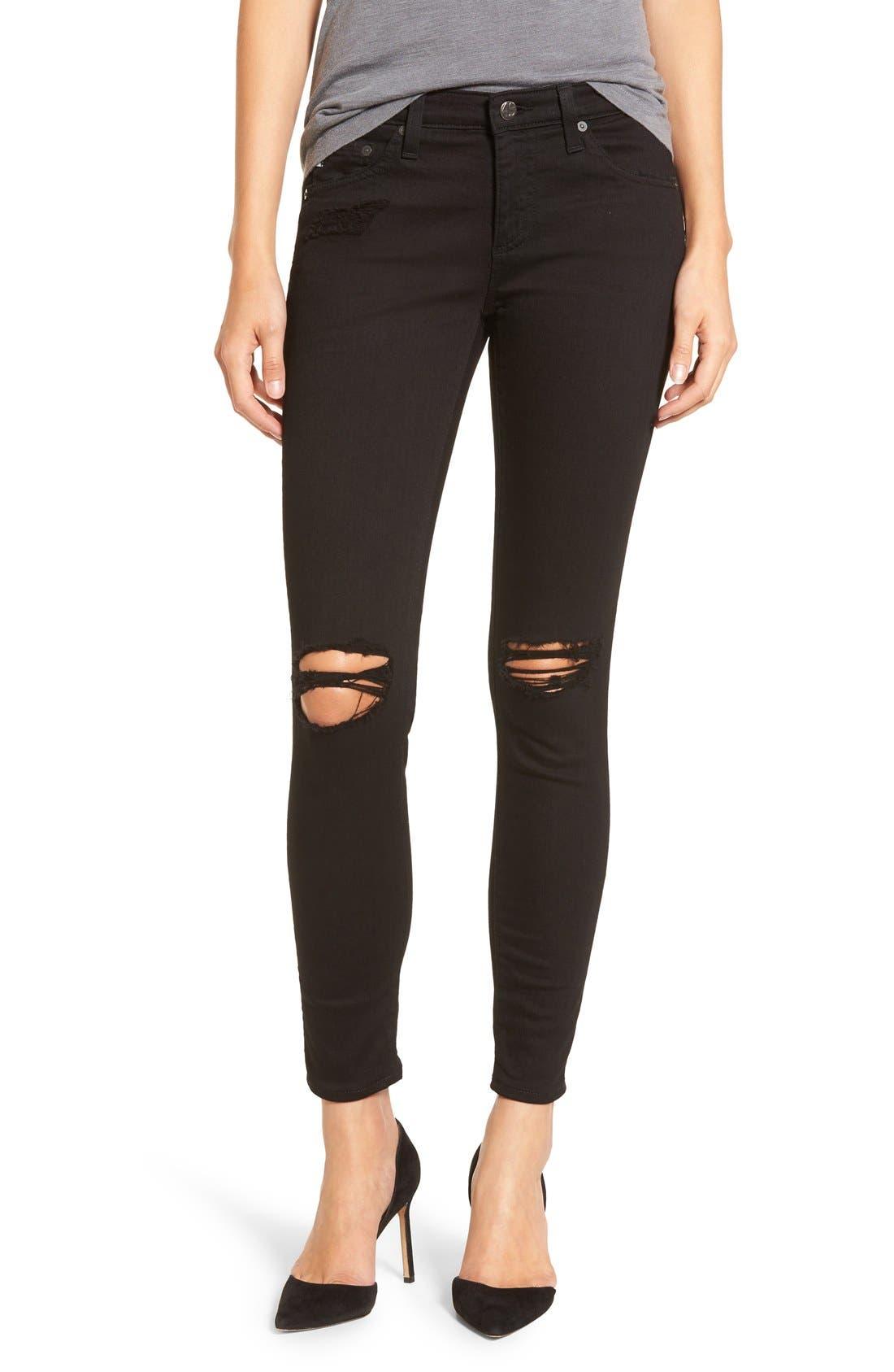 'The Legging' Ankle Super Skinny Jeans,                             Main thumbnail 4, color,