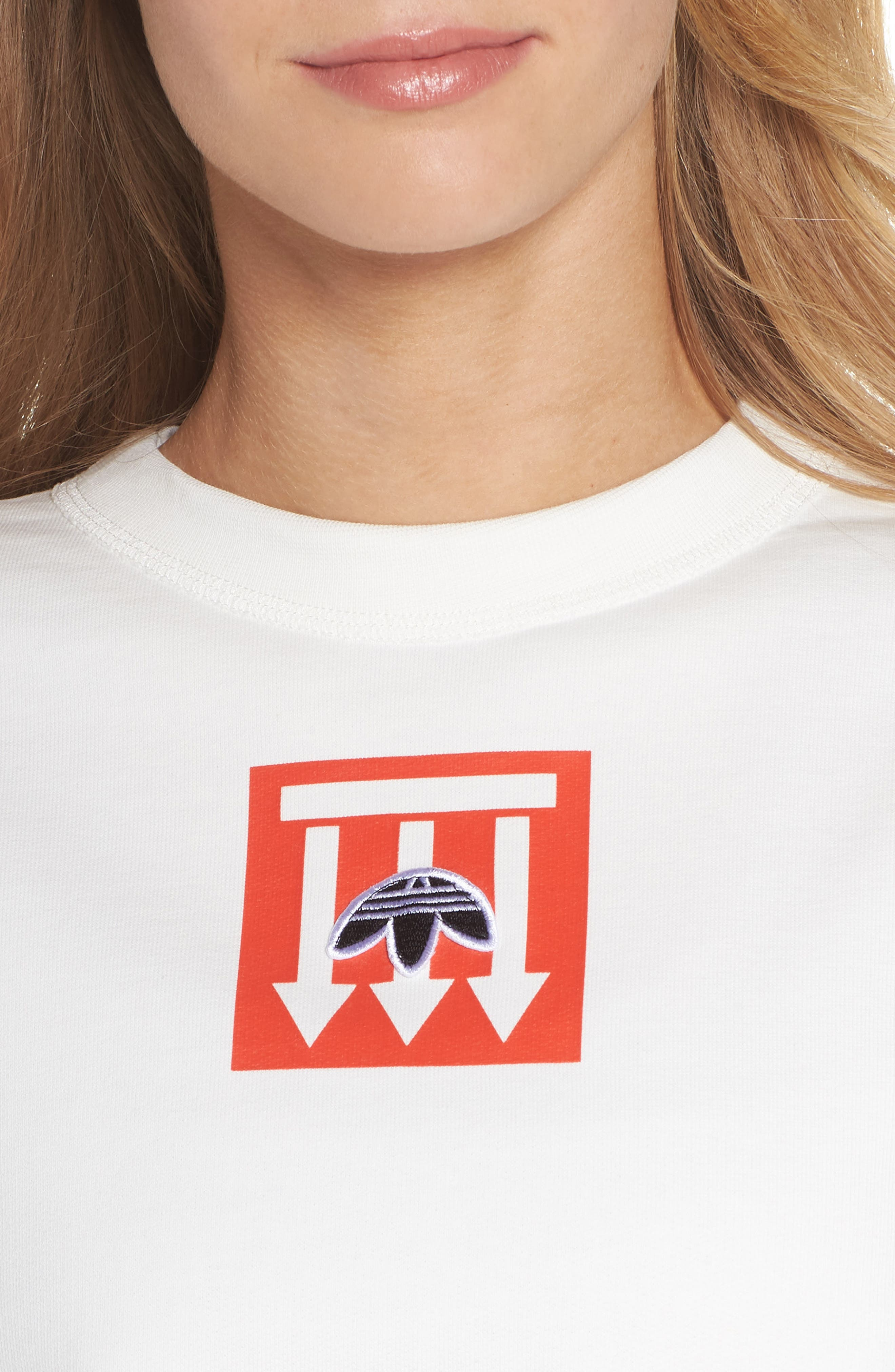 adidas x Alexander Wang Graphite Sweatshirt,                             Alternate thumbnail 4, color,                             900