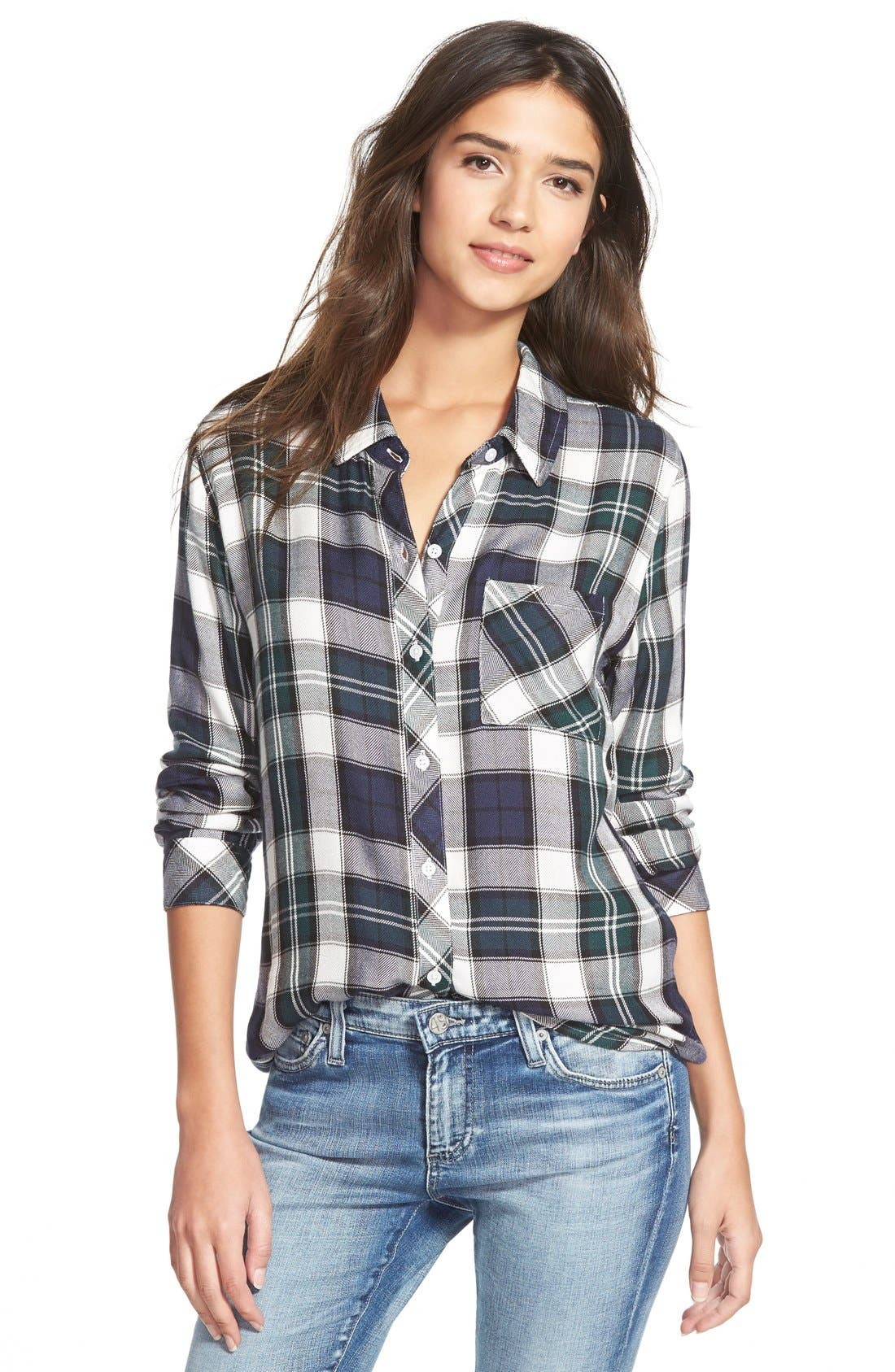 'Hunter' Plaid Shirt,                         Main,                         color, 300