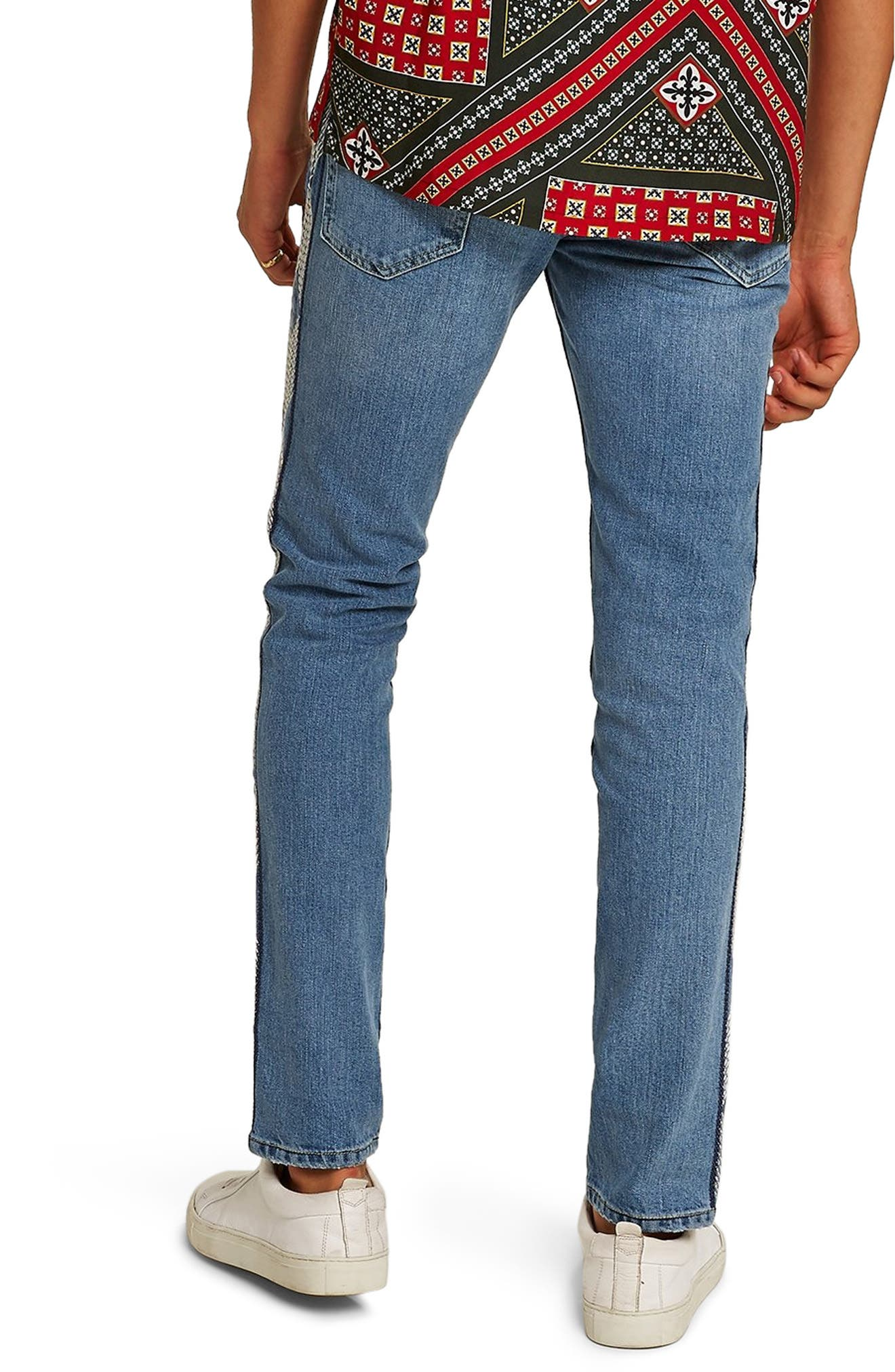 Side Stitched Stretch Skinny Jeans,                             Alternate thumbnail 2, color,                             400
