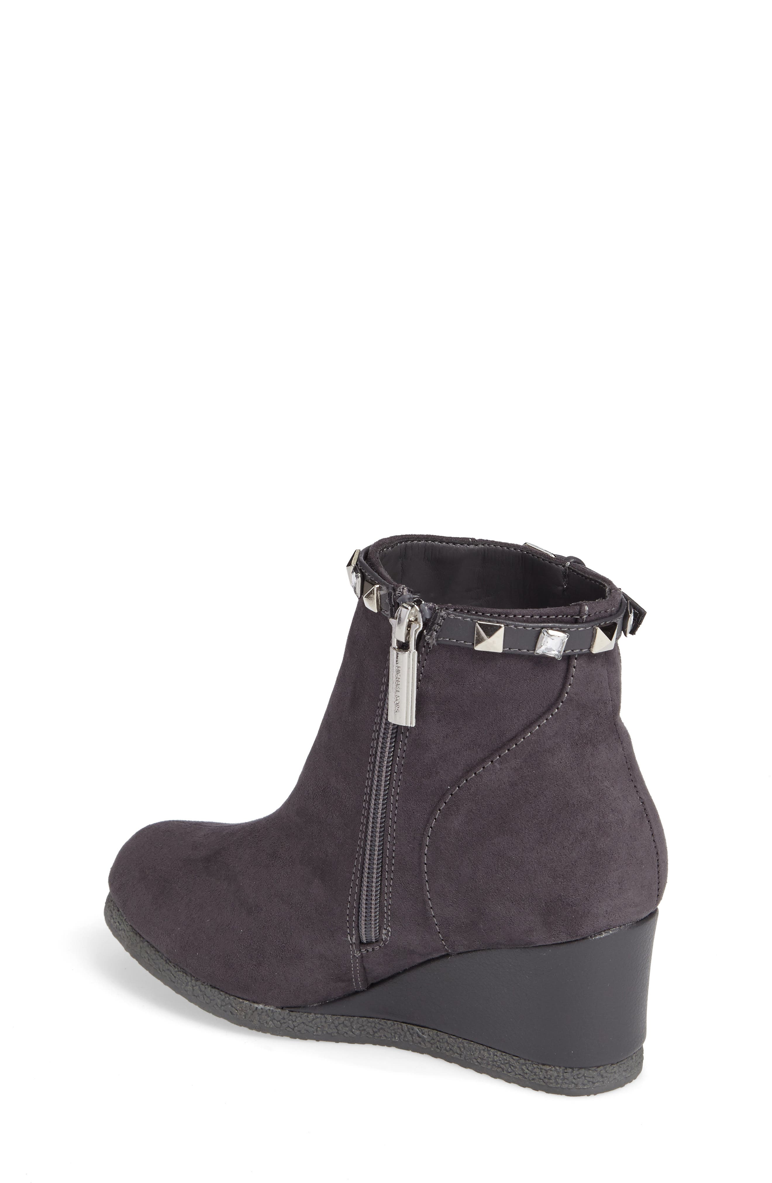 Cara Key Studded Wedge Bootie,                             Alternate thumbnail 4, color,