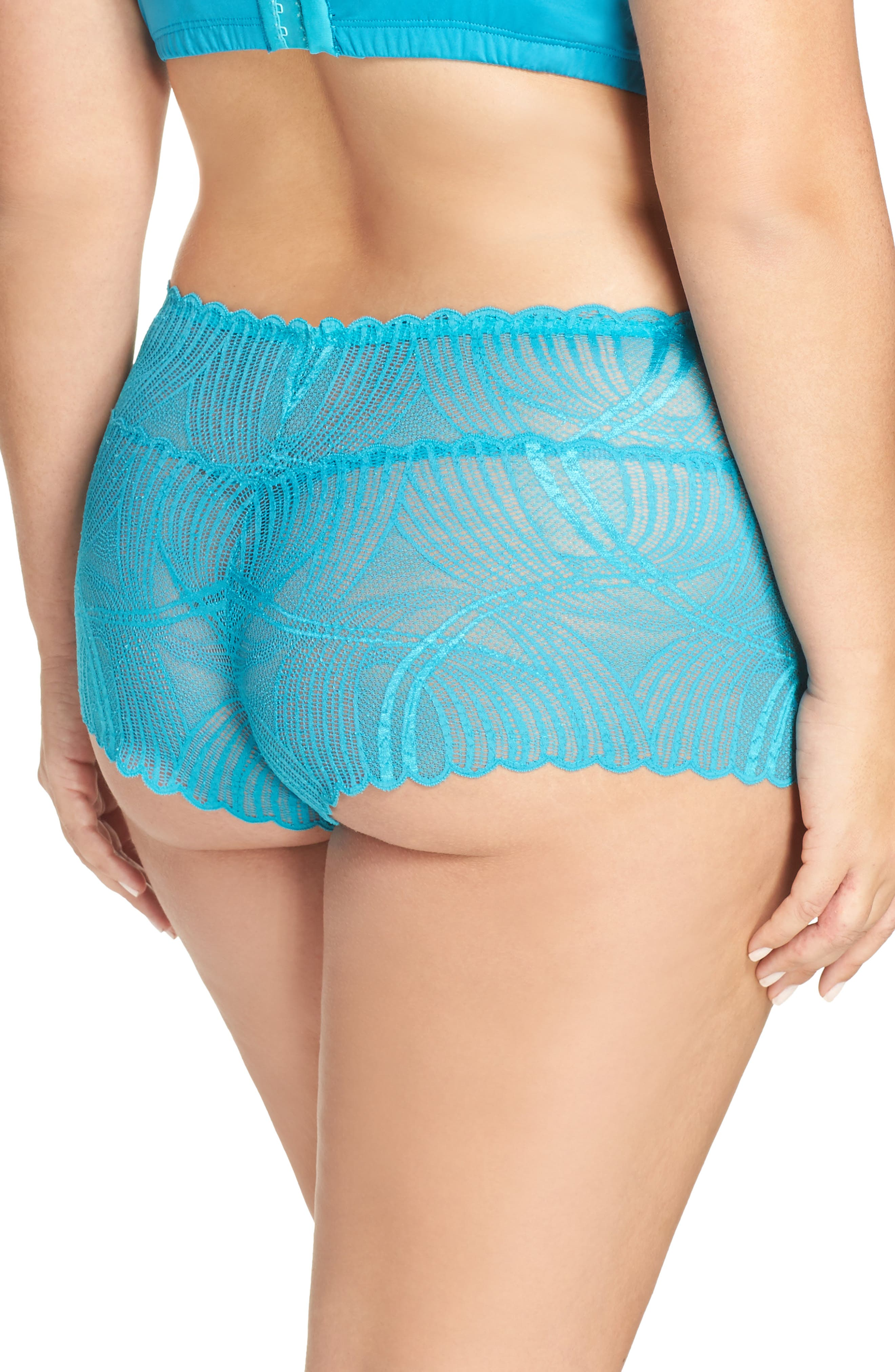 Minoa Naughtie Open Gusset Boyshorts,                             Alternate thumbnail 9, color,