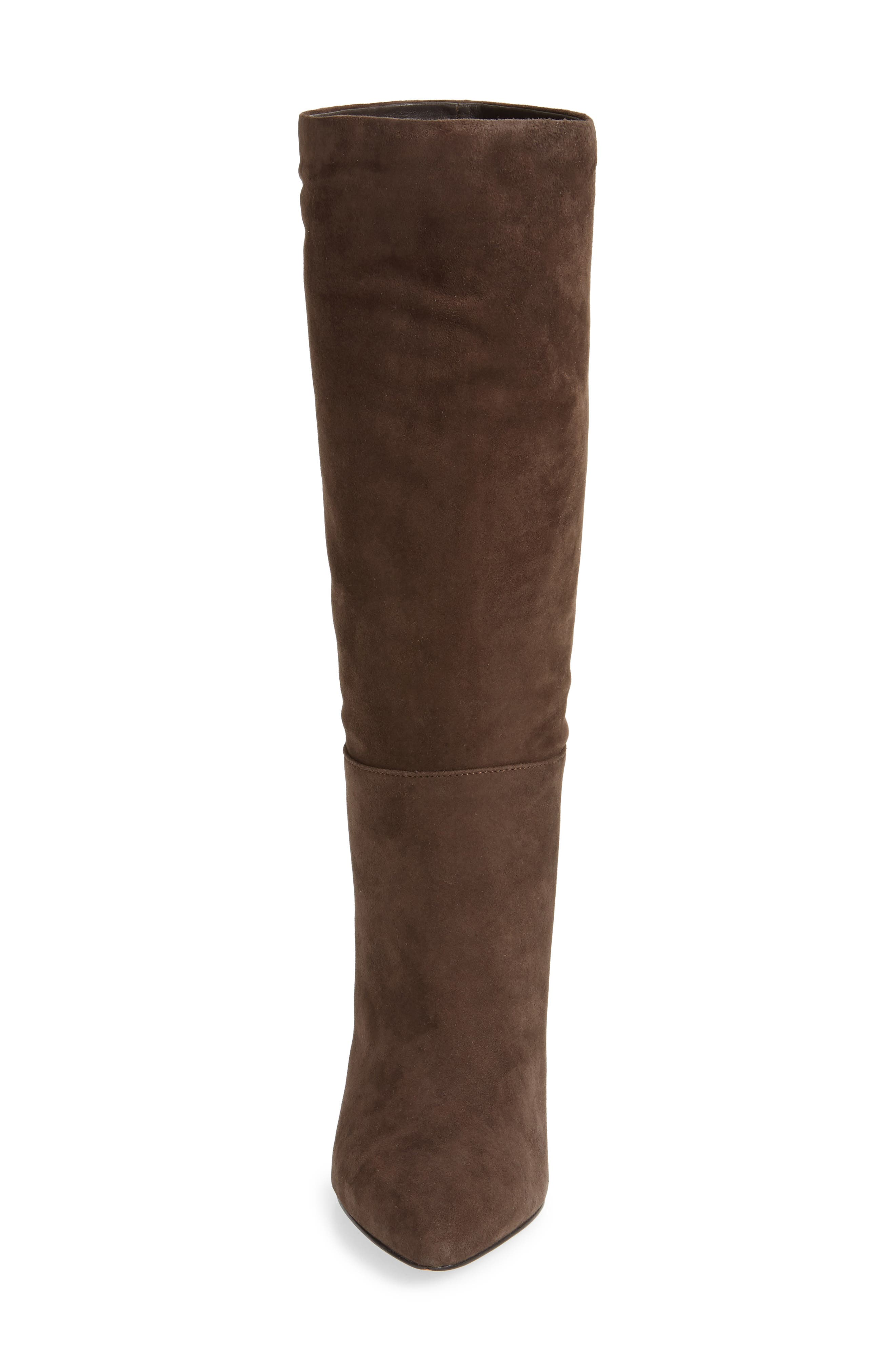 Parker Suede Boot,                             Alternate thumbnail 5, color,                             CHOCOLATE SUEDE