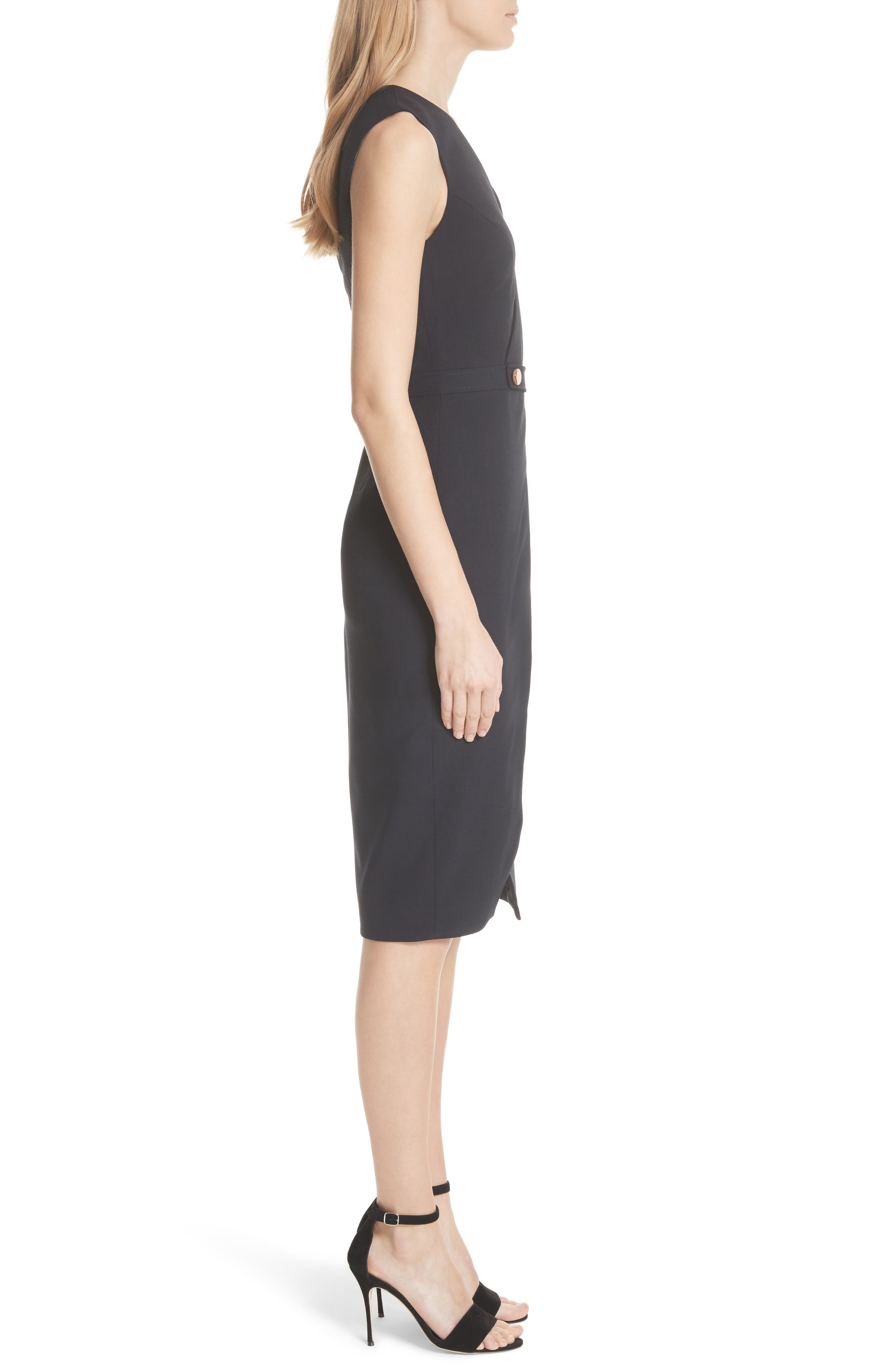 Ted Working Title Faux Wrap Dress,                             Alternate thumbnail 3, color,                             NAVY
