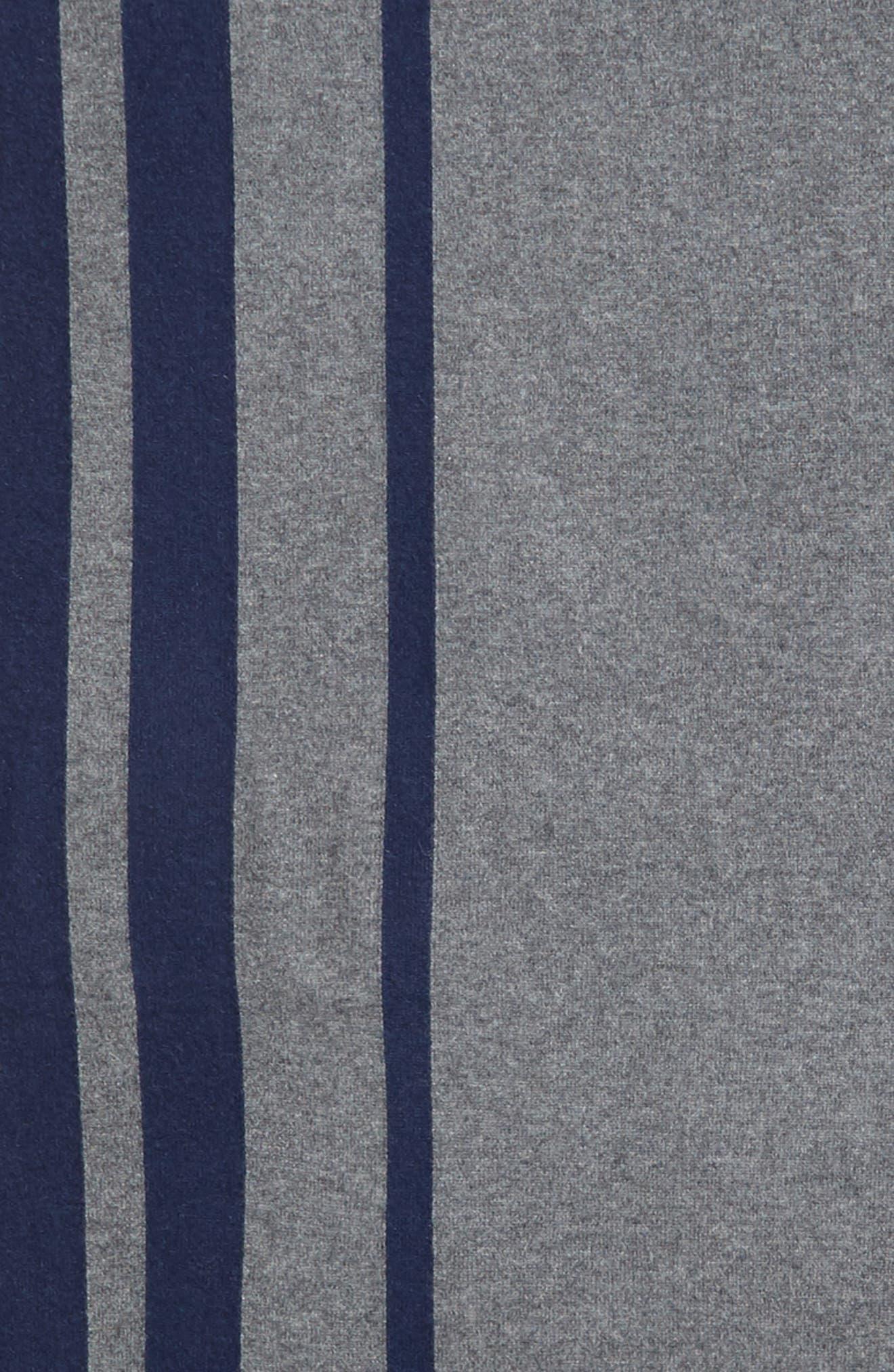 Stripe Cashmere Wrap Scarf,                             Alternate thumbnail 4, color,                             GREY COMBO