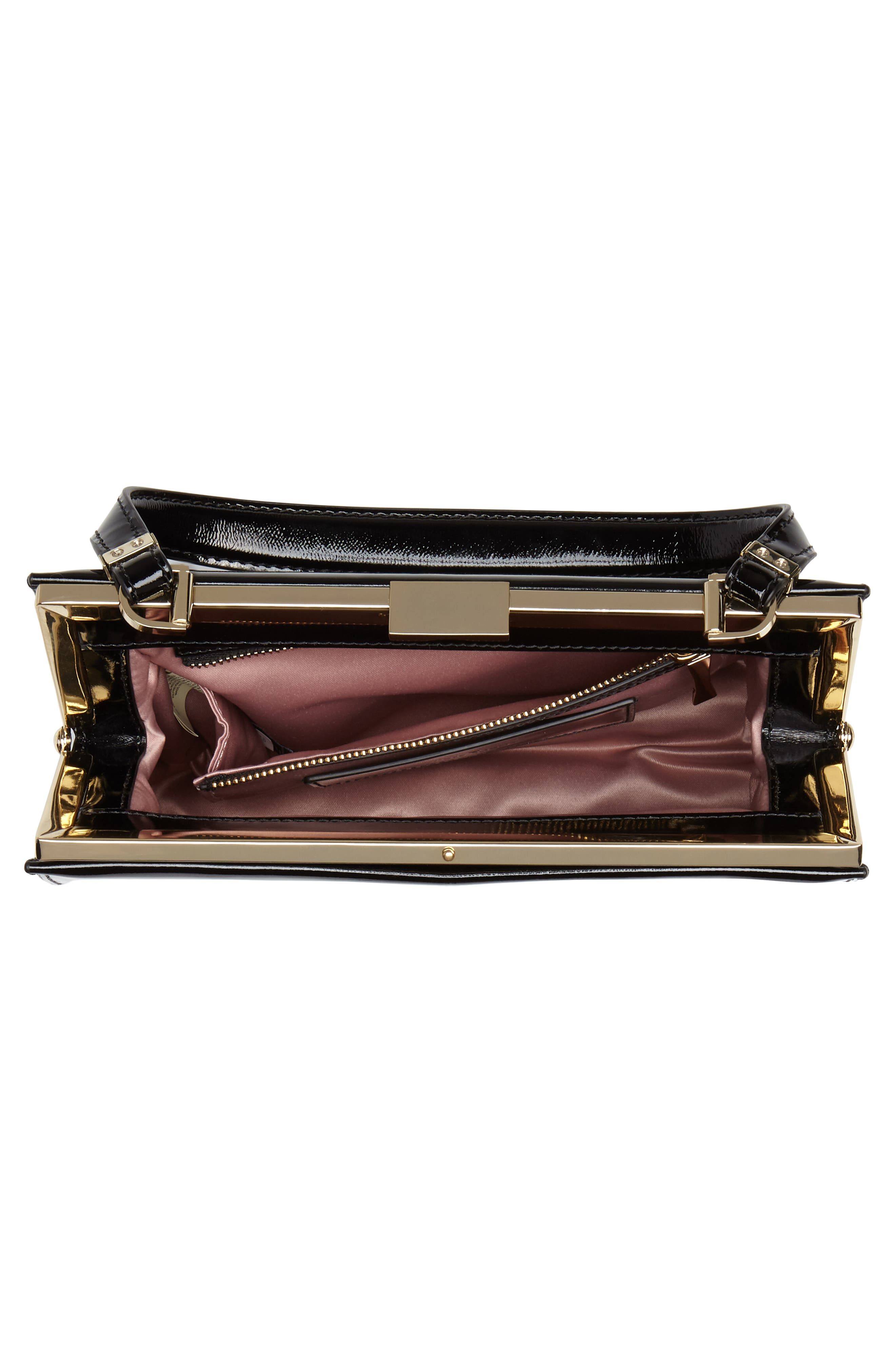 madison moore road - chari leather handbag,                             Alternate thumbnail 4, color,                             001