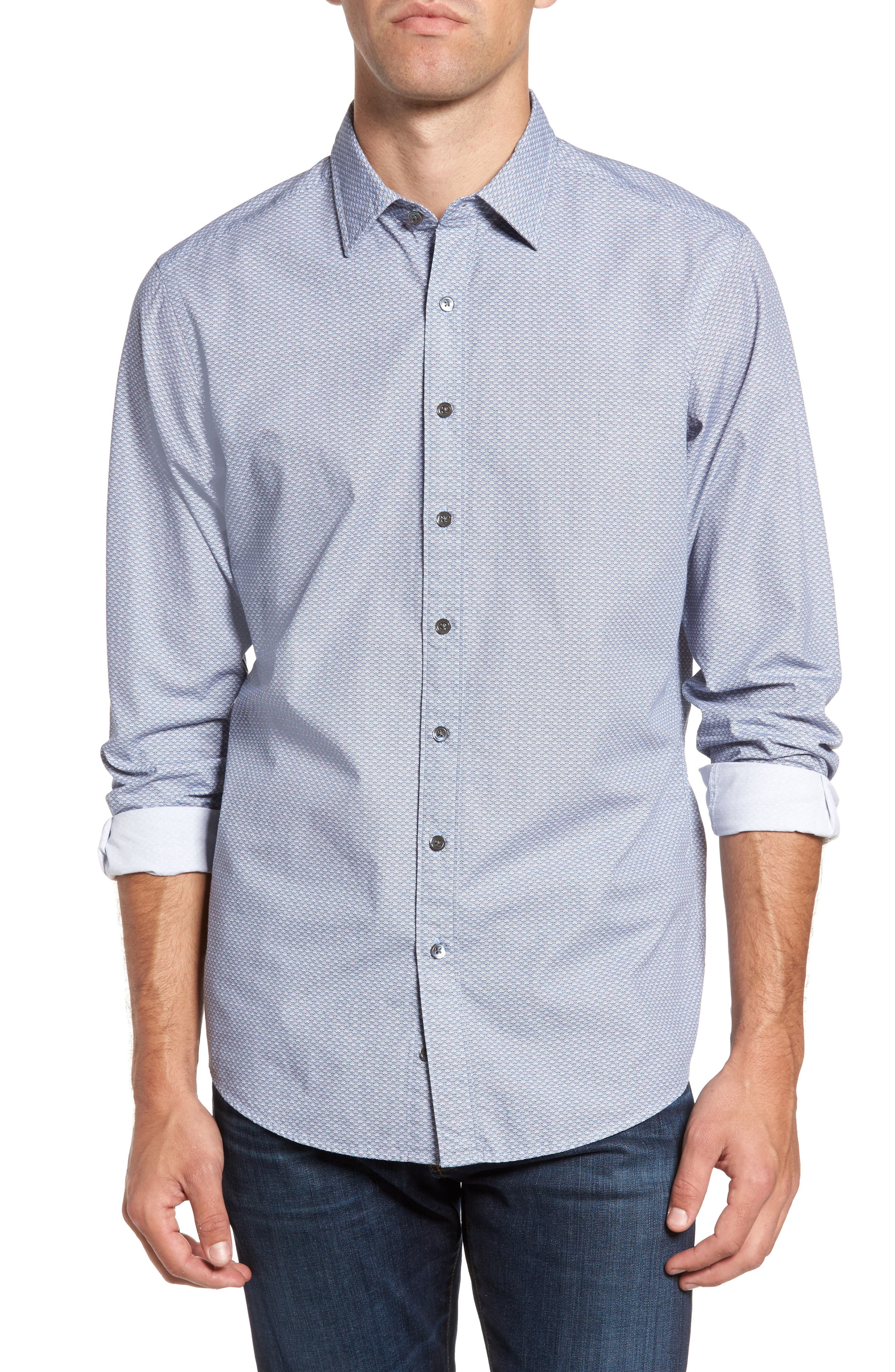 Macauley Sports Fit Print Sport Shirt,                         Main,                         color, 423