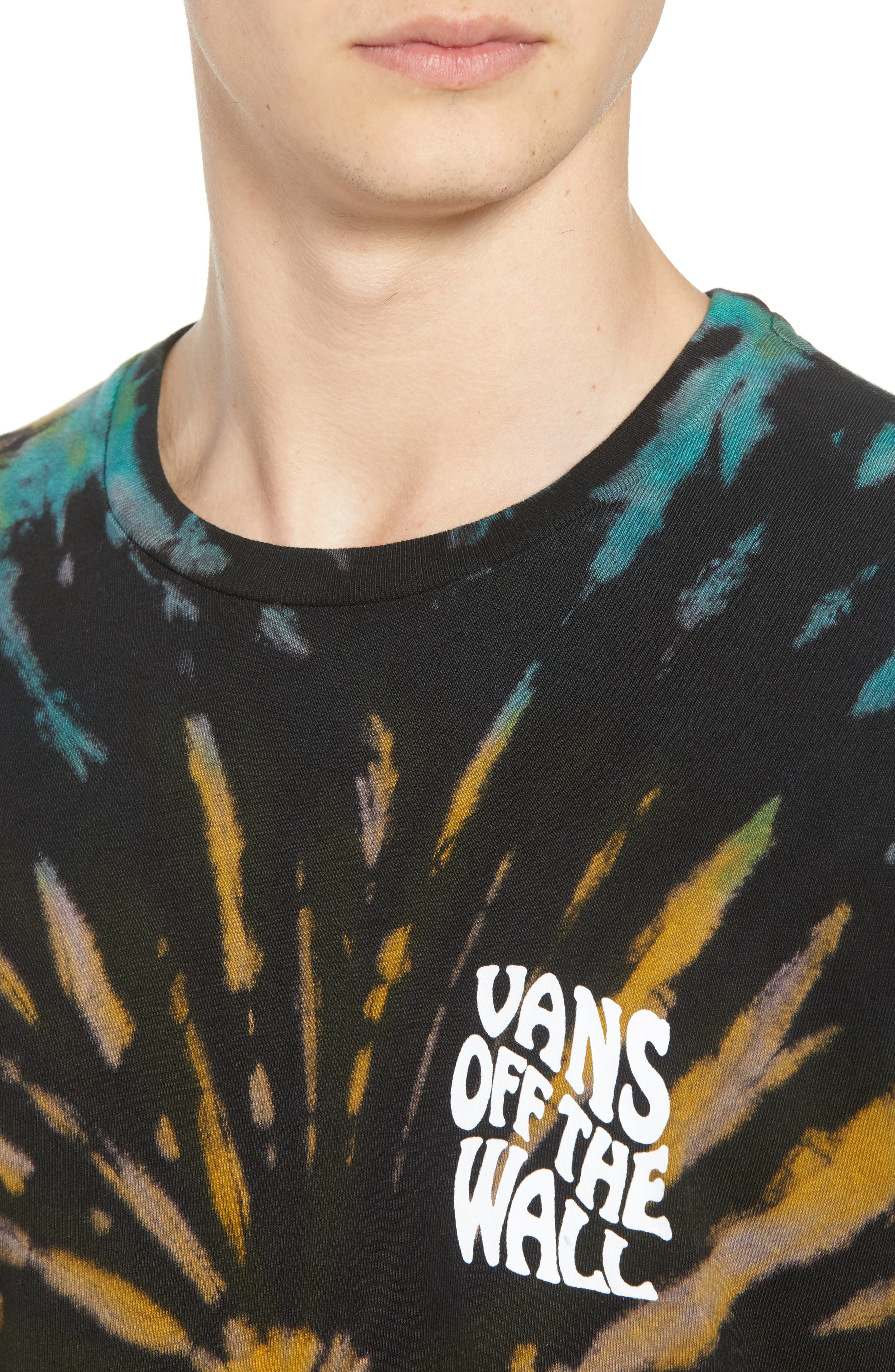 Tie Dye Reaper T-Shirt,                             Alternate thumbnail 4, color,                             BLACK
