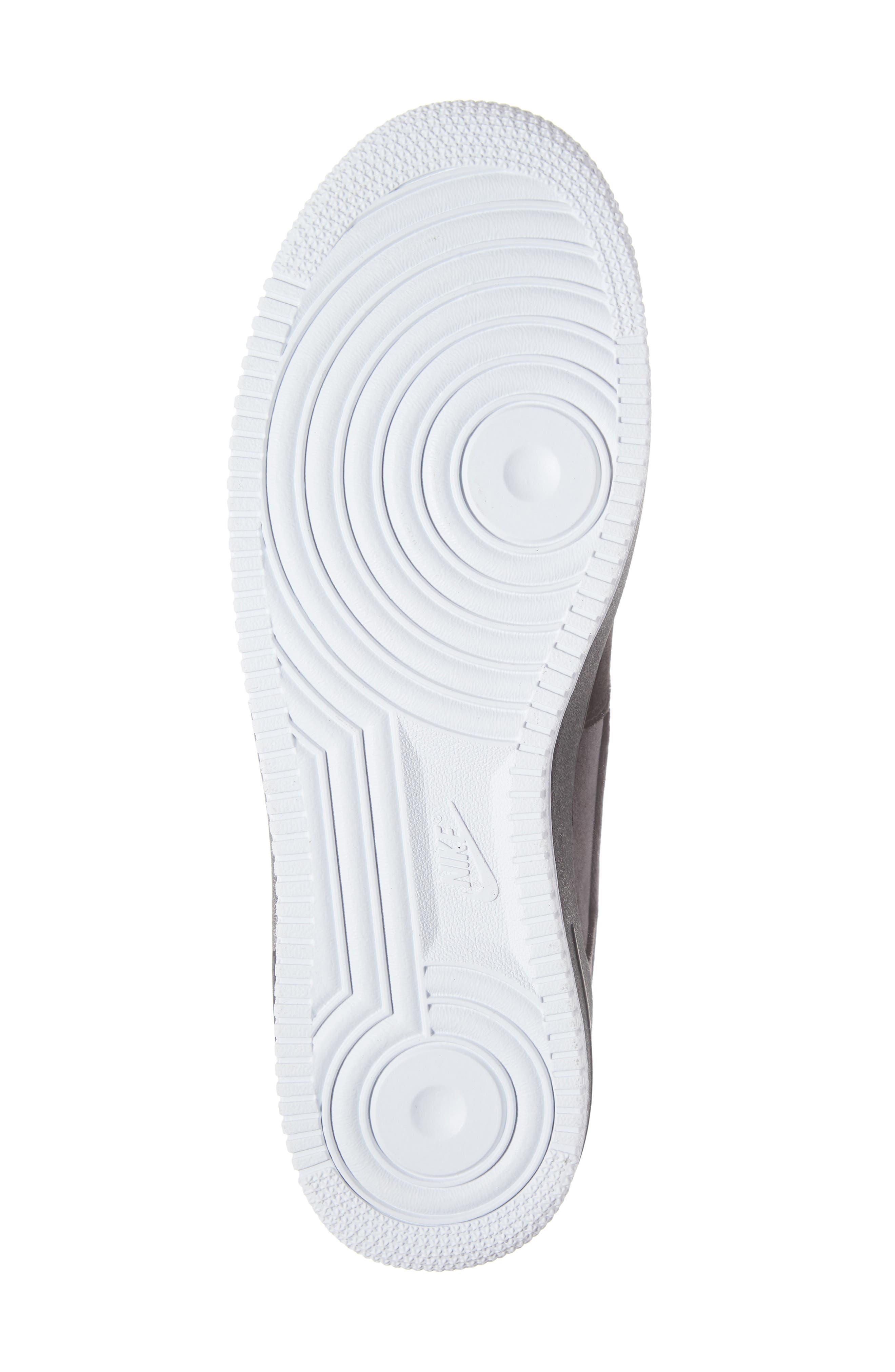Air Force 1 '07 QS Sneaker,                             Alternate thumbnail 6, color,                             BLACK/ BLACK/ WHITE