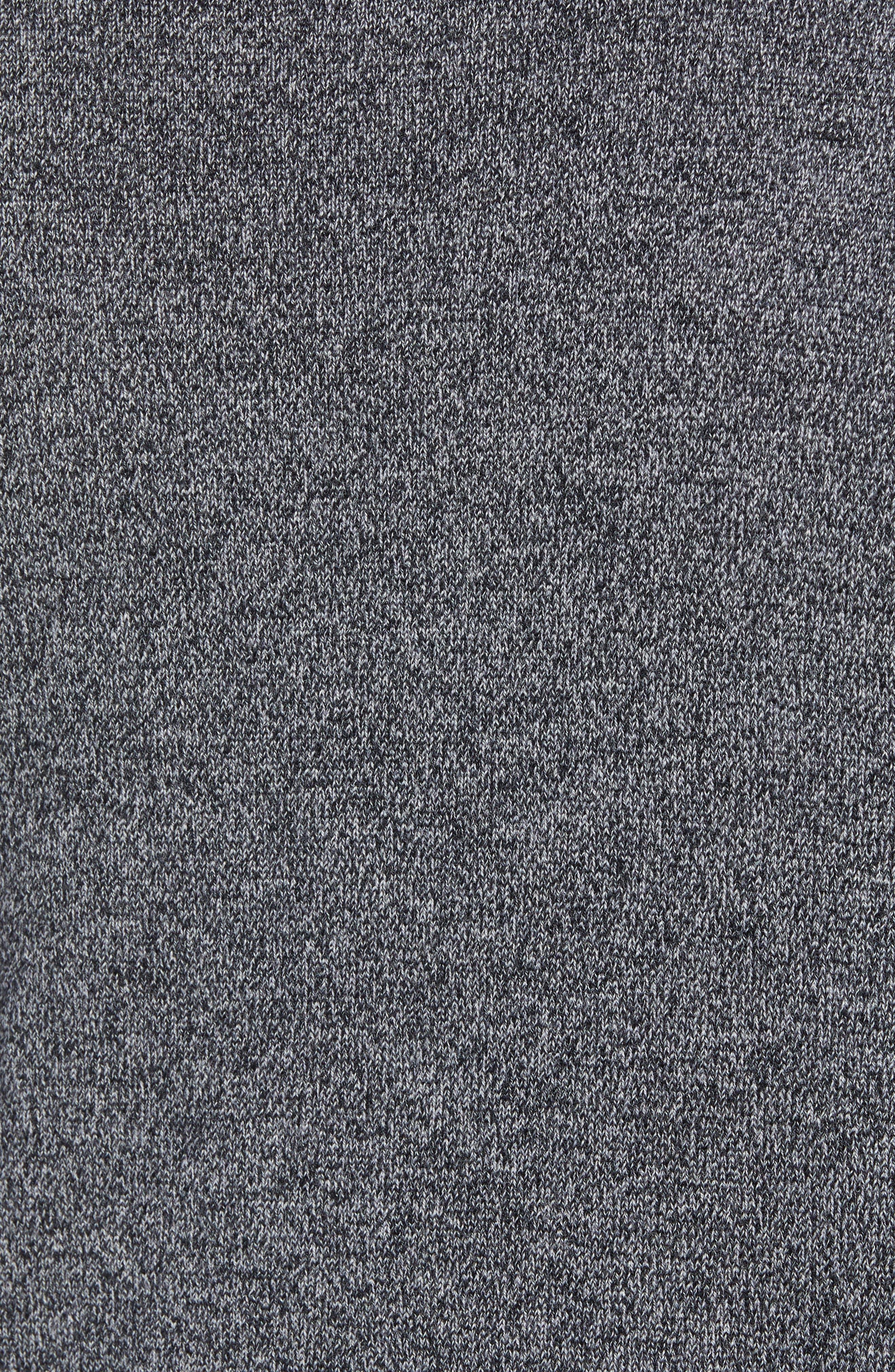 Slim Fit Turtleneck Merino Wool Sweater,                             Alternate thumbnail 5, color,                             CHARCOAL MARL