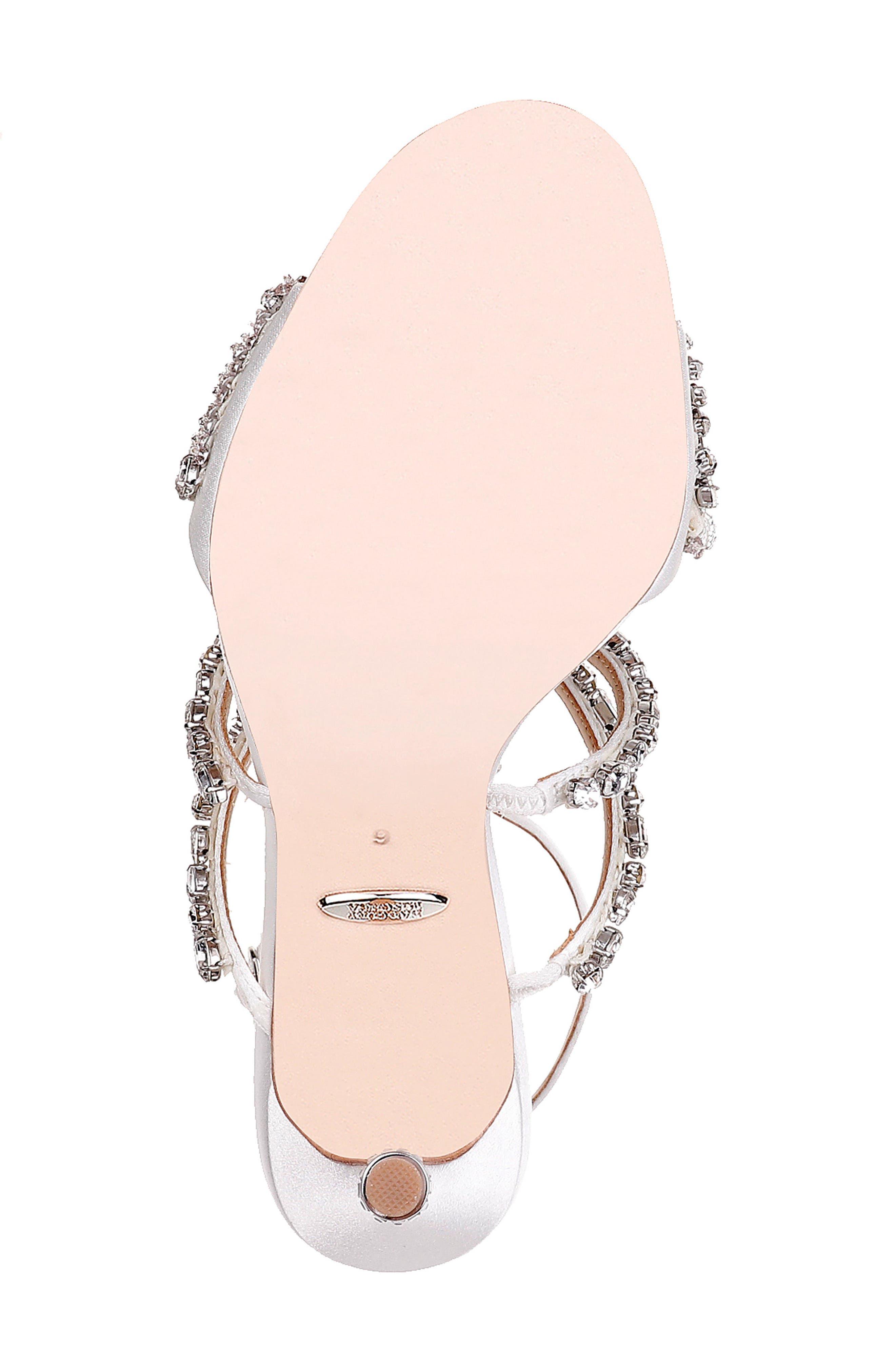 Badgley Mischka Hughes Crystal Embellished Sandal,                             Alternate thumbnail 6, color,                             142
