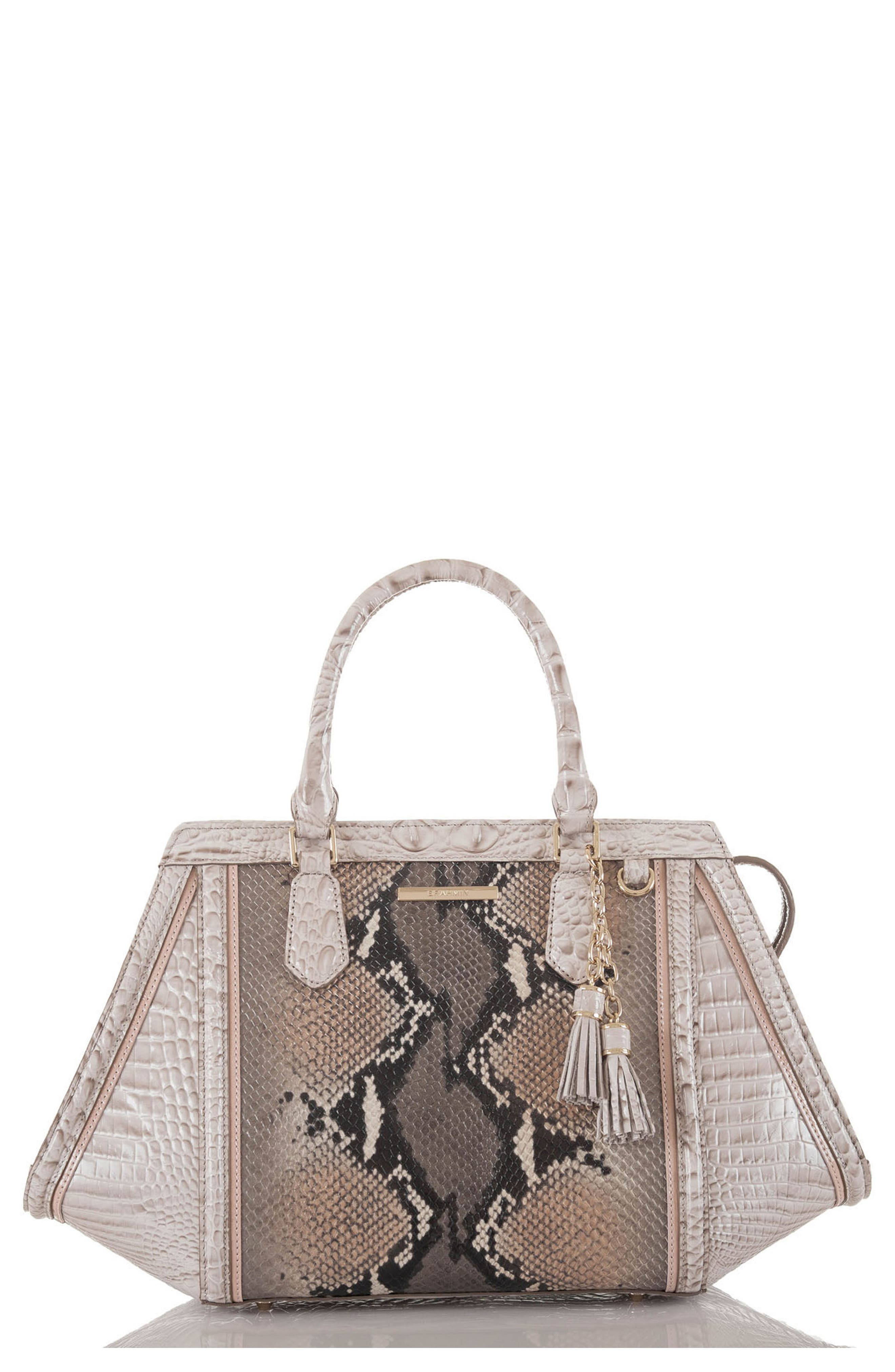 Arden Embossed Leather Satchel,                         Main,                         color, 020