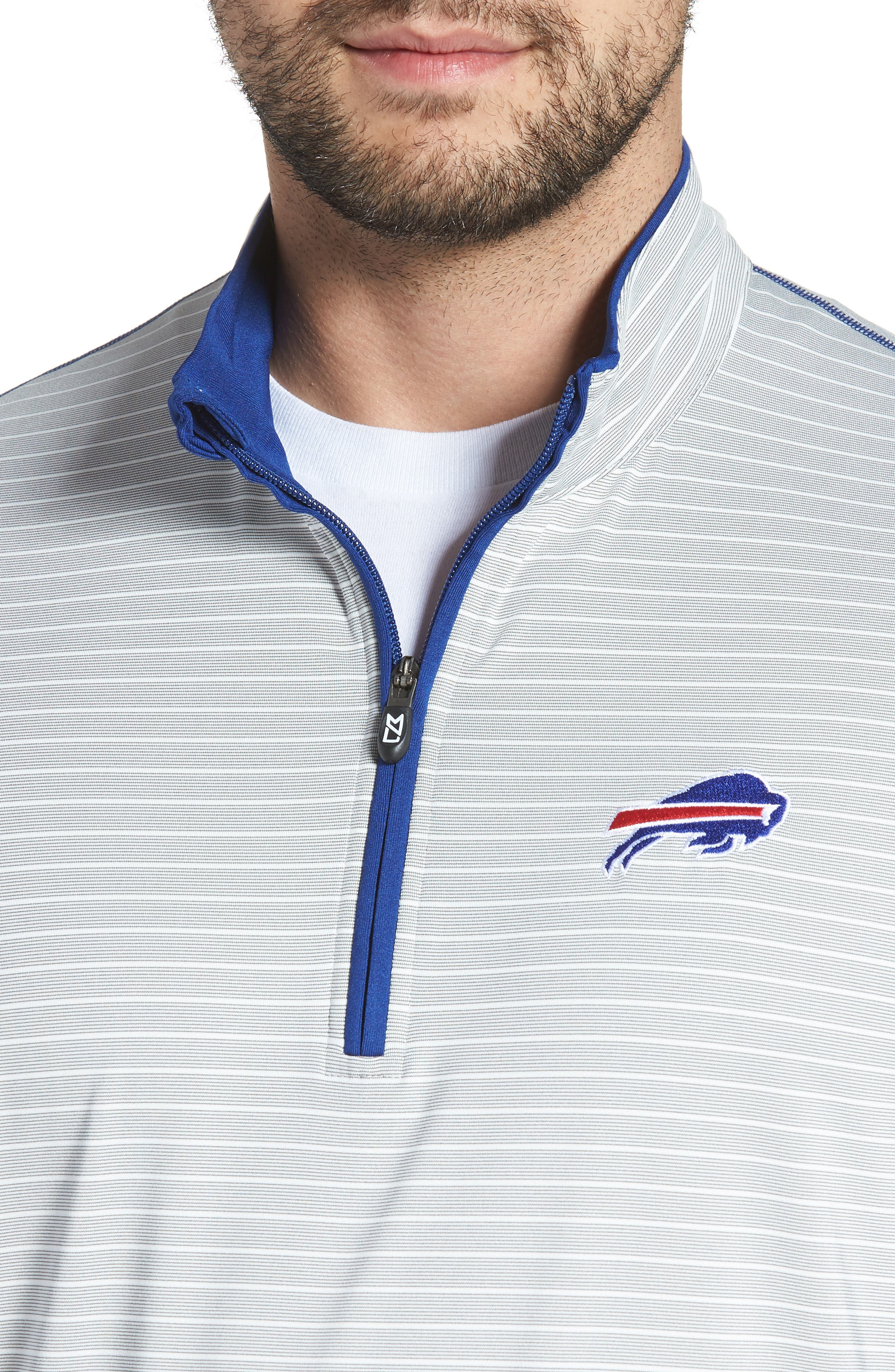 Meridian - Buffalo Bills Regular Fit Half Zip Pullover,                             Alternate thumbnail 4, color,                             462