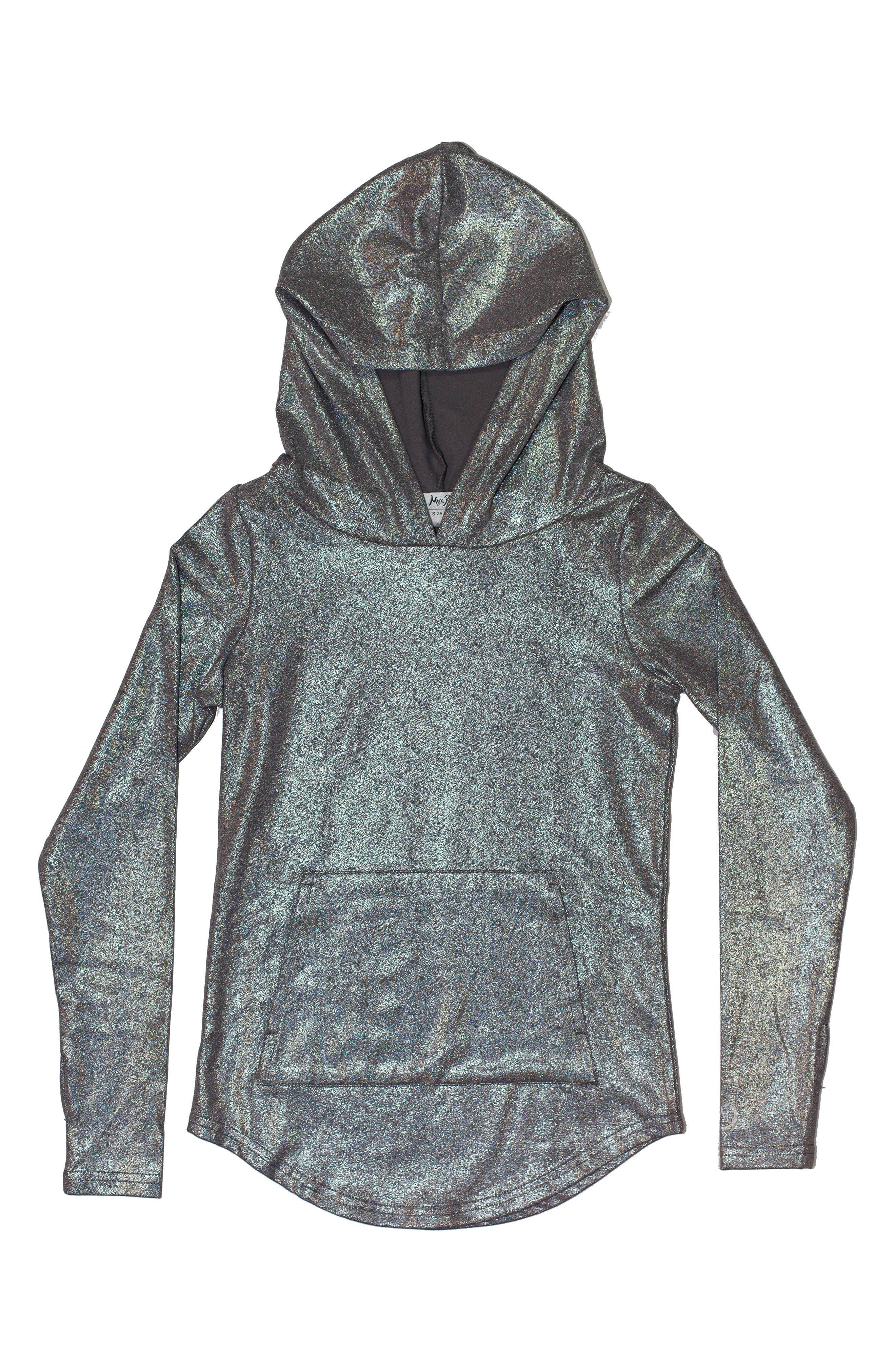 Lolo Metallic Hoodie,                         Main,                         color, METALLIC SILVER