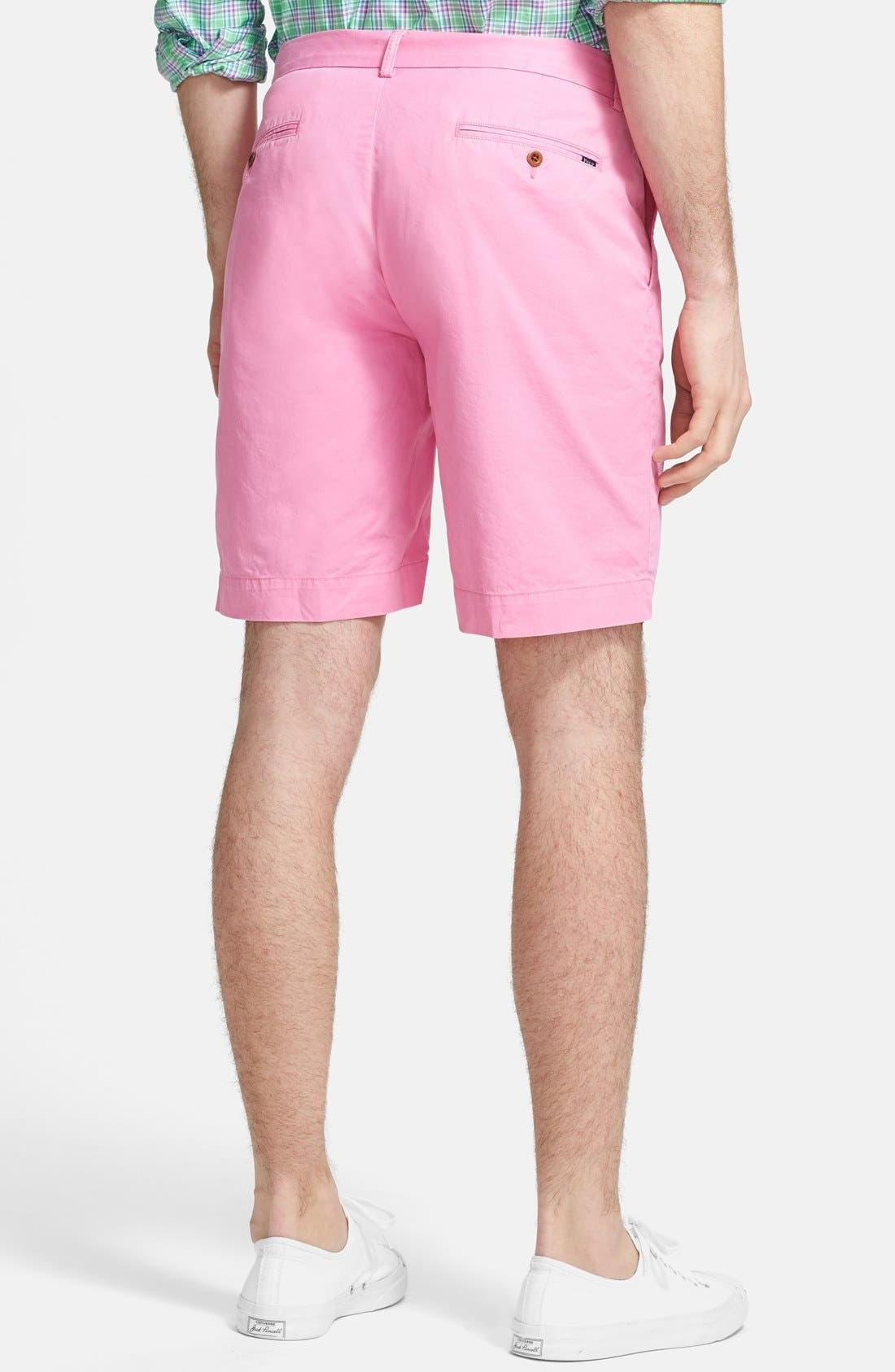 'Hudson' Flat Front Classic Fit Chino Shorts,                             Alternate thumbnail 2, color,                             670