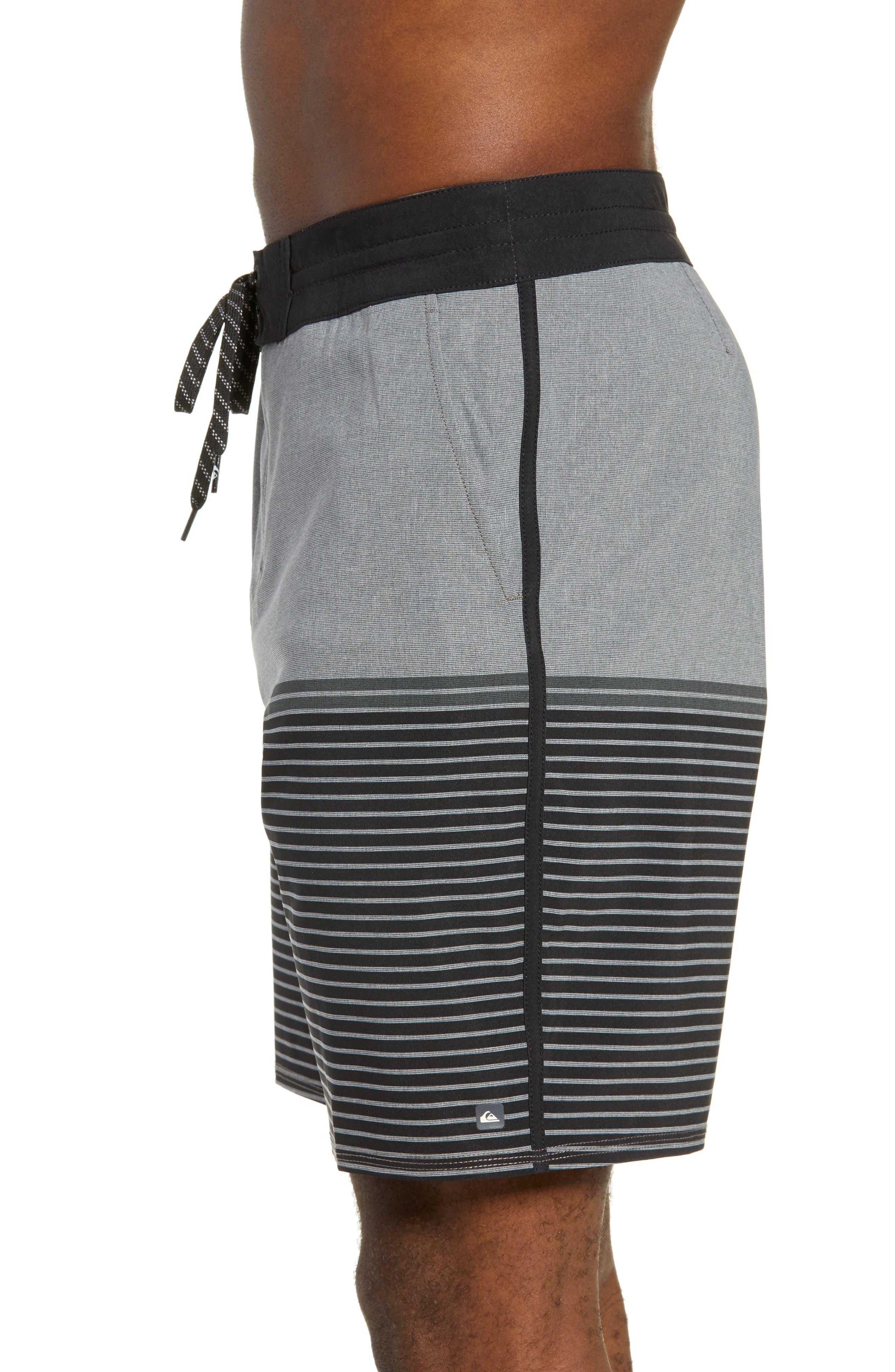 Liberty Stripe Board Shorts,                             Alternate thumbnail 3, color,                             DARK SHADOW